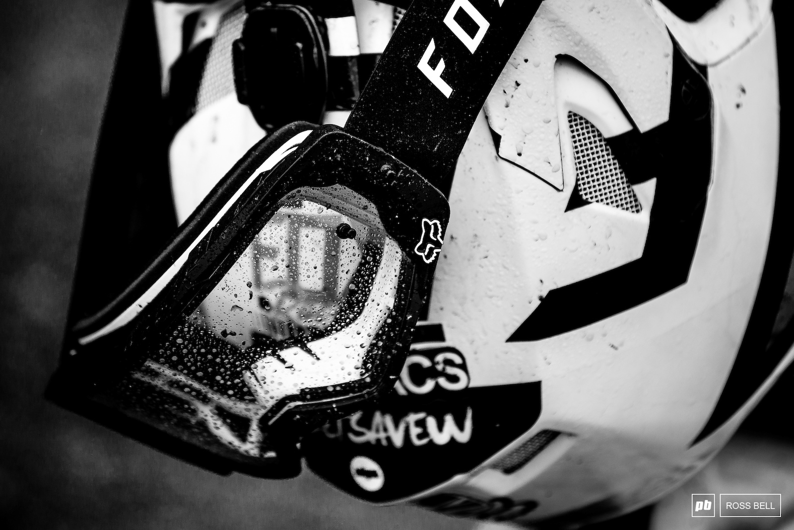 After riding on a largely dry track all weekend rider s kit was left wet and muddy with the rain timing it s arrival nicely for race runs.