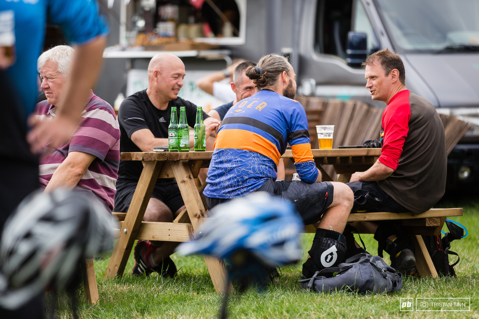 Riders were able to enjoy the sunshine and share their stories over a cold one