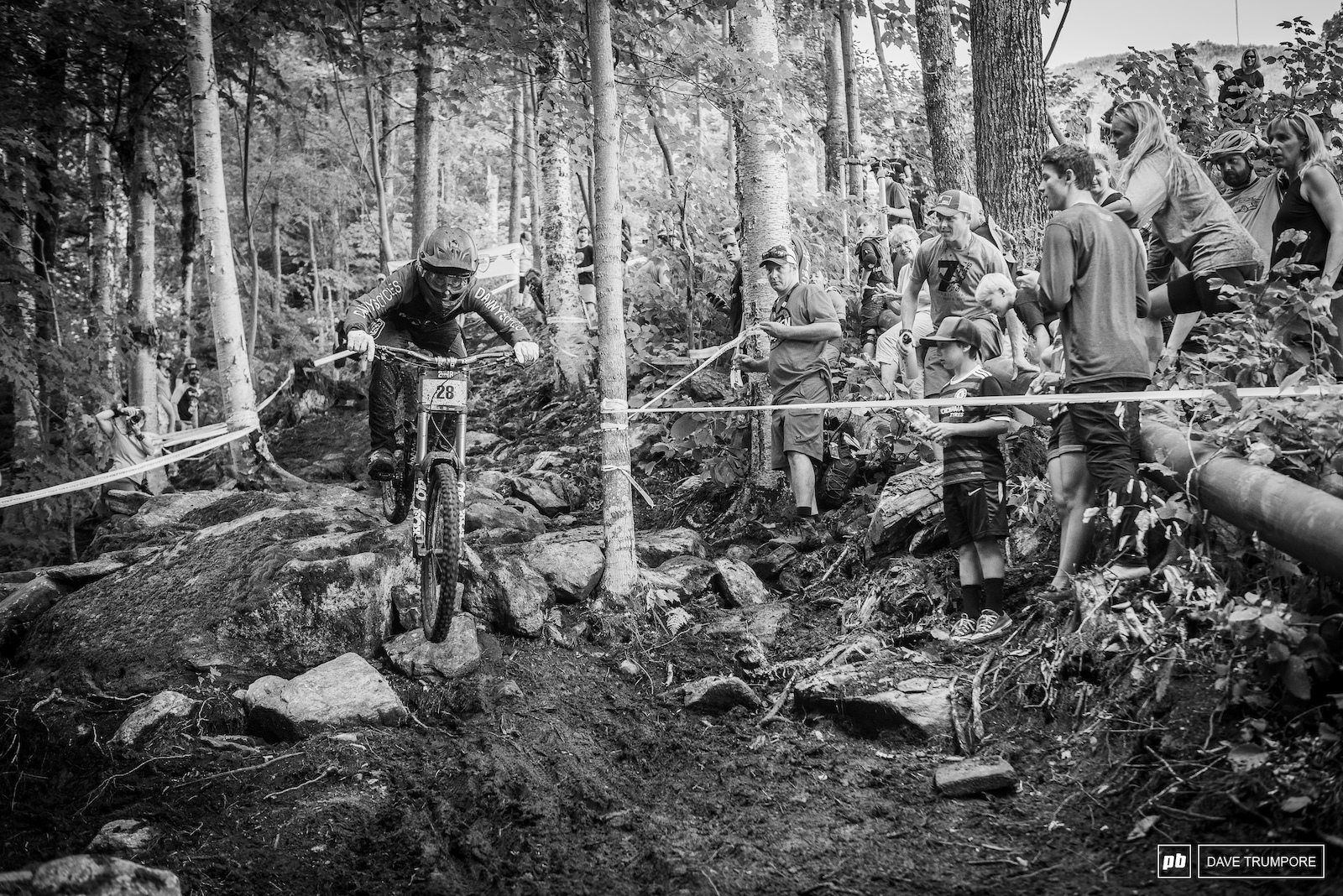 Jake Kahn cleans the last rock garden that claimed more than a few riders just 20 seconds from the finish line.