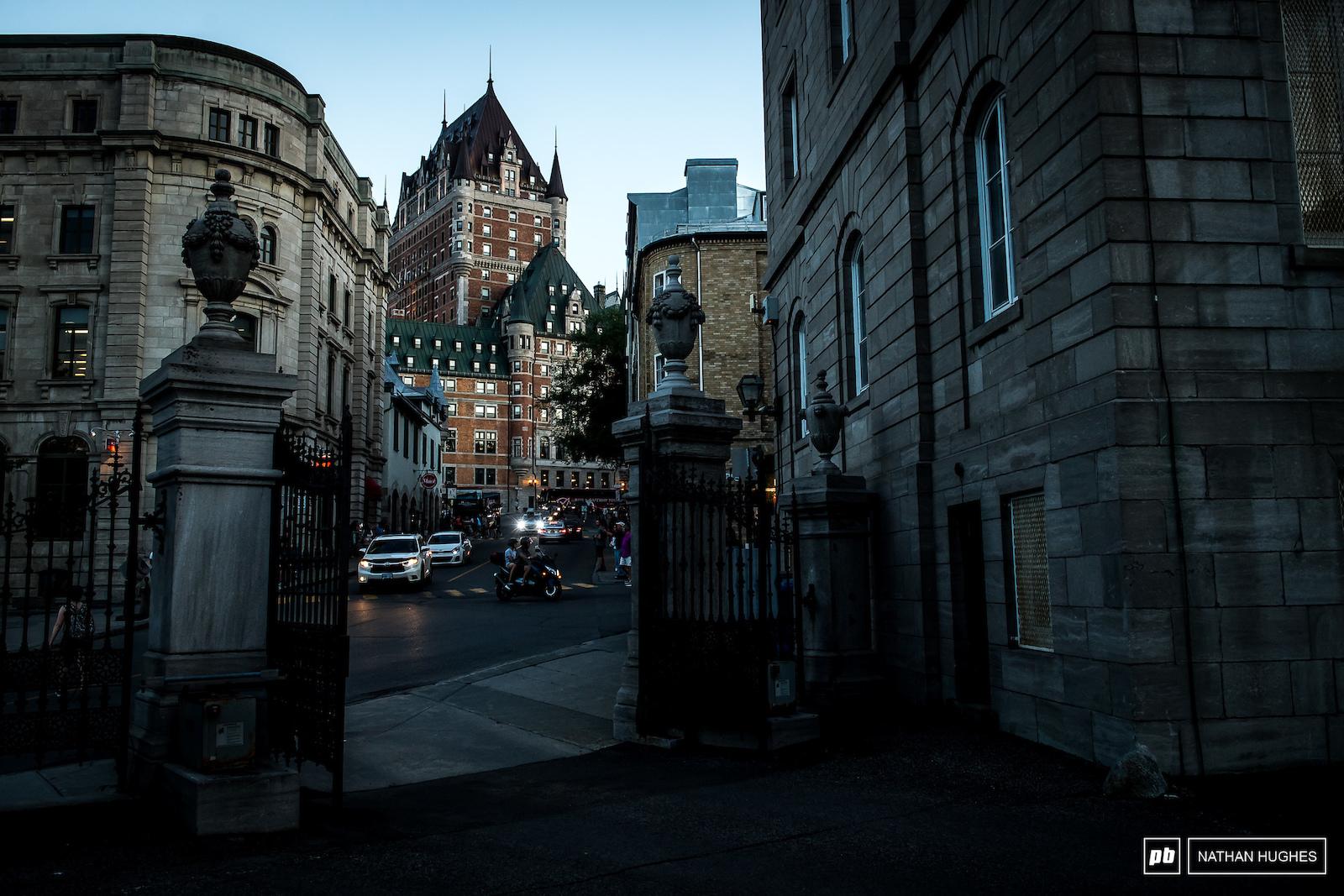 Quebec s iconic hotel Frontenac.