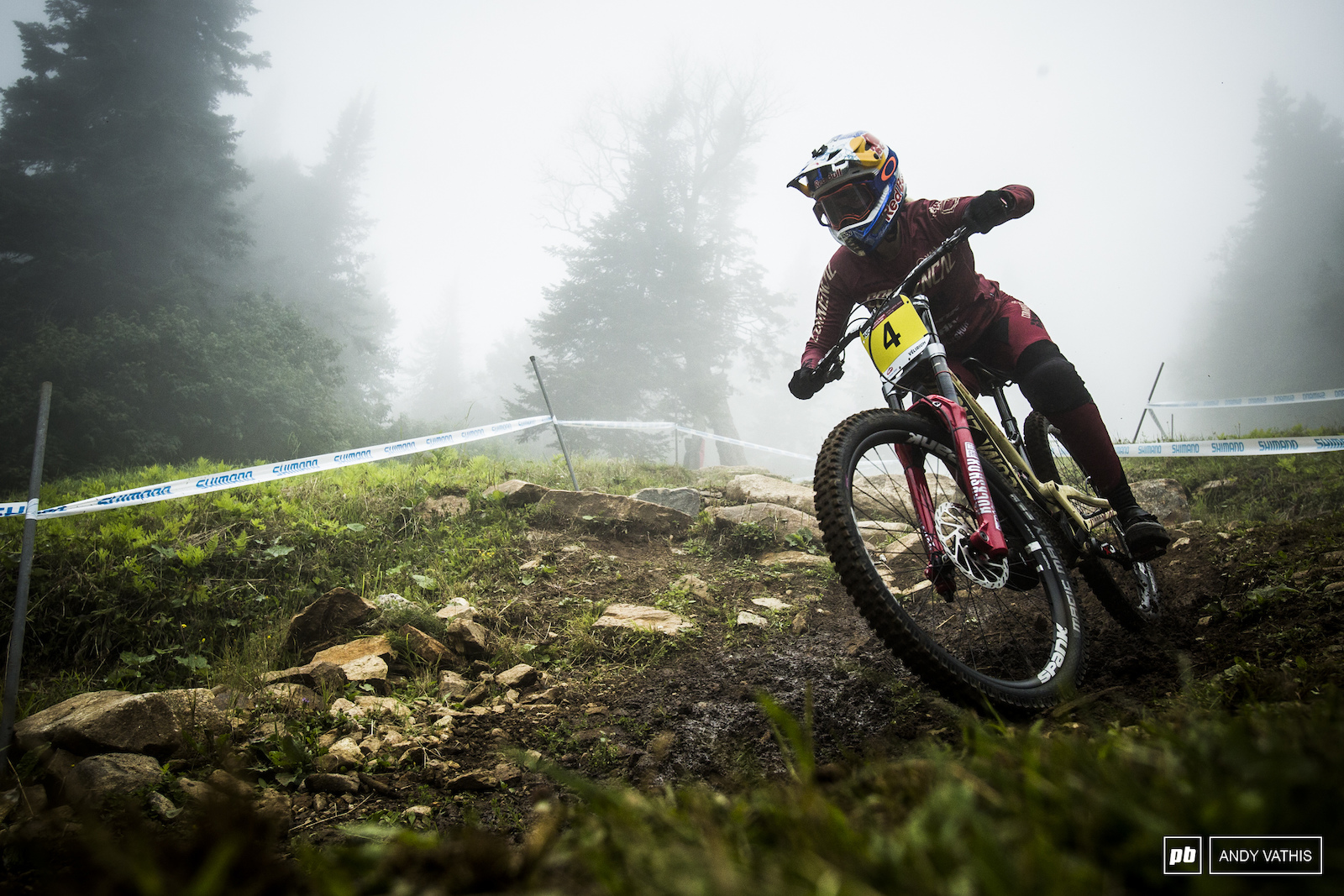 Myriam Nicole peering through the clouds back on two wheels.