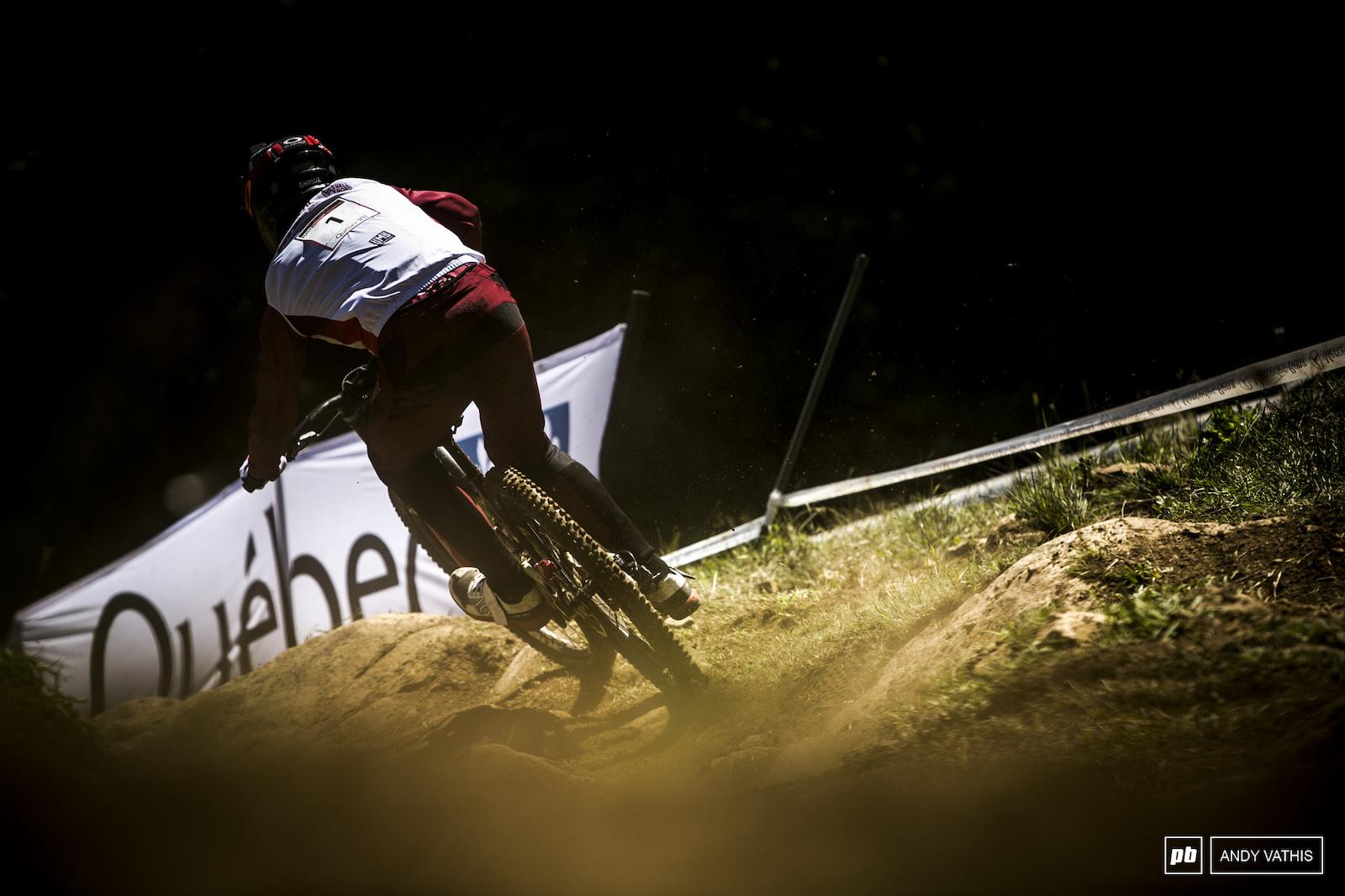 Amaury Pierron kicking up dust.