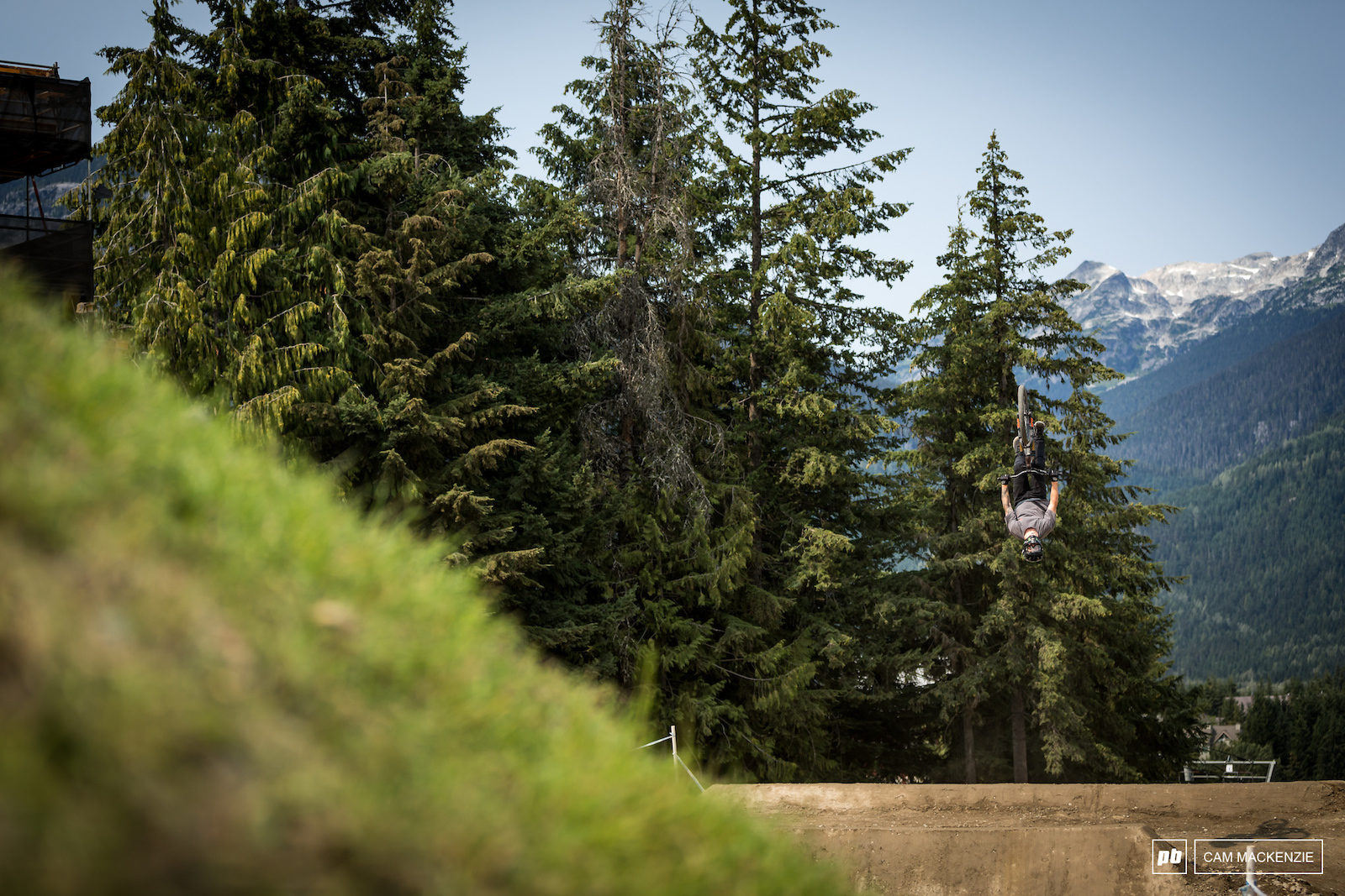 Tom van Steenbergen floating a casual backflip during the early stages of training