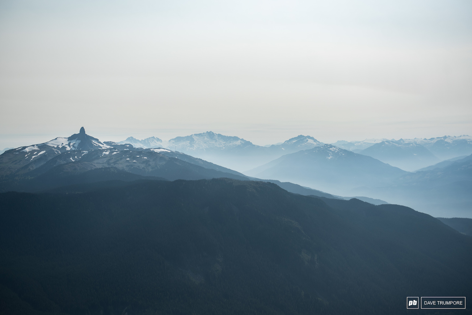 All the views from the top of Whistler Peak.