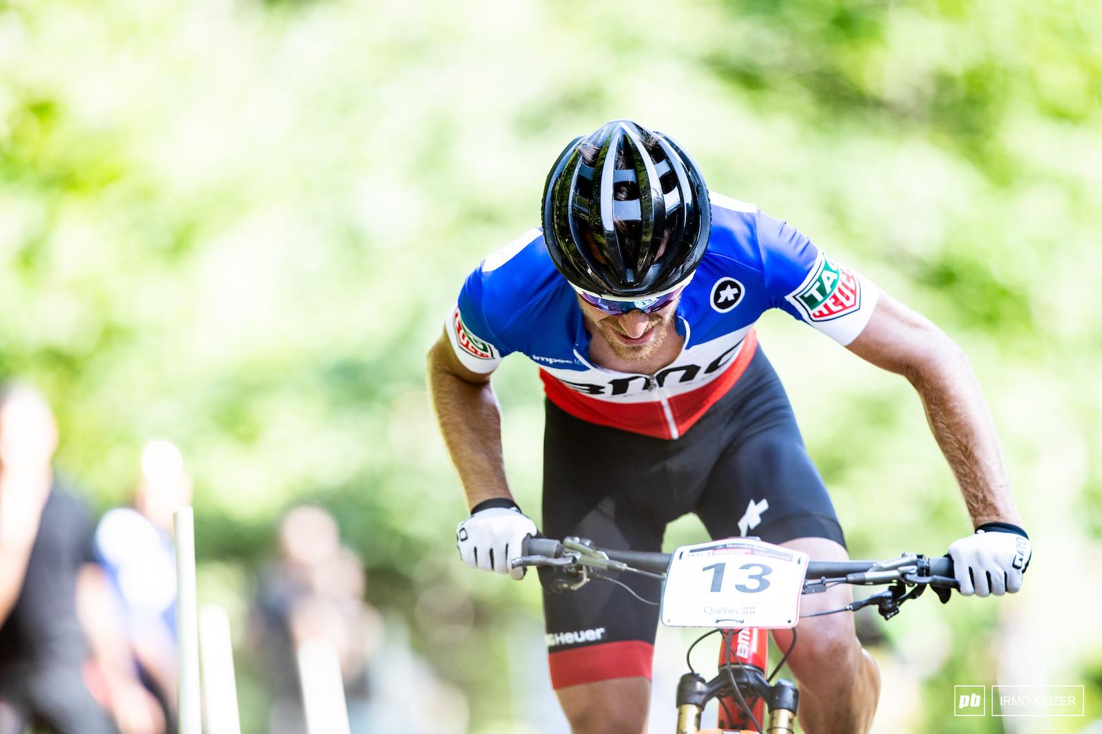 Titouan Carod rode an impressive race and took third.