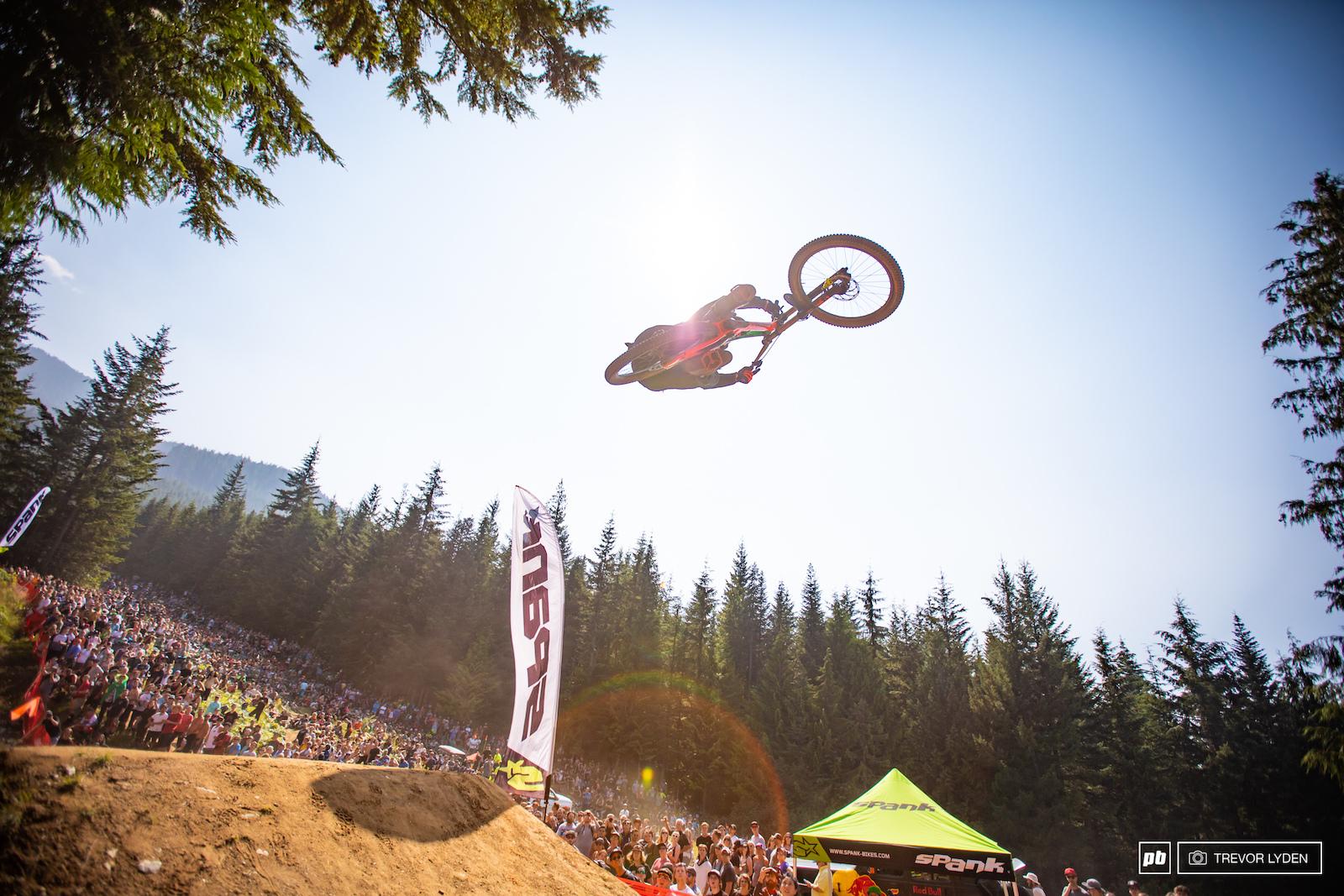 Jumper extrodinaire and YouTube sensation Fabio Wibmer put down some lofty whips
