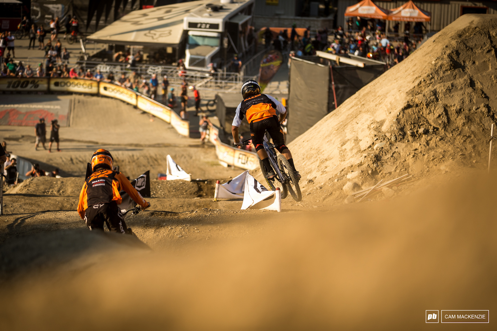 Doing it down under styles. Connor Fearon and Graeme Mudd duelling in the dust