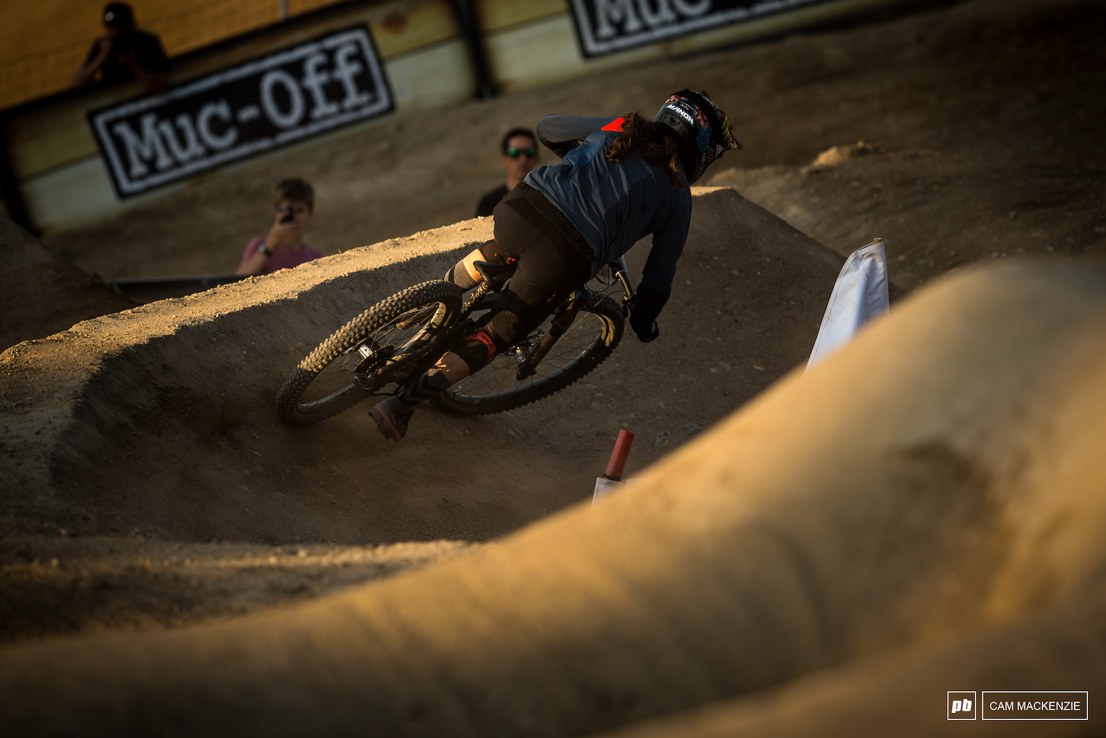 Manon Carpenter was out racing another Crankworx event today but got knocked out early against a fierce Anneke Beerten