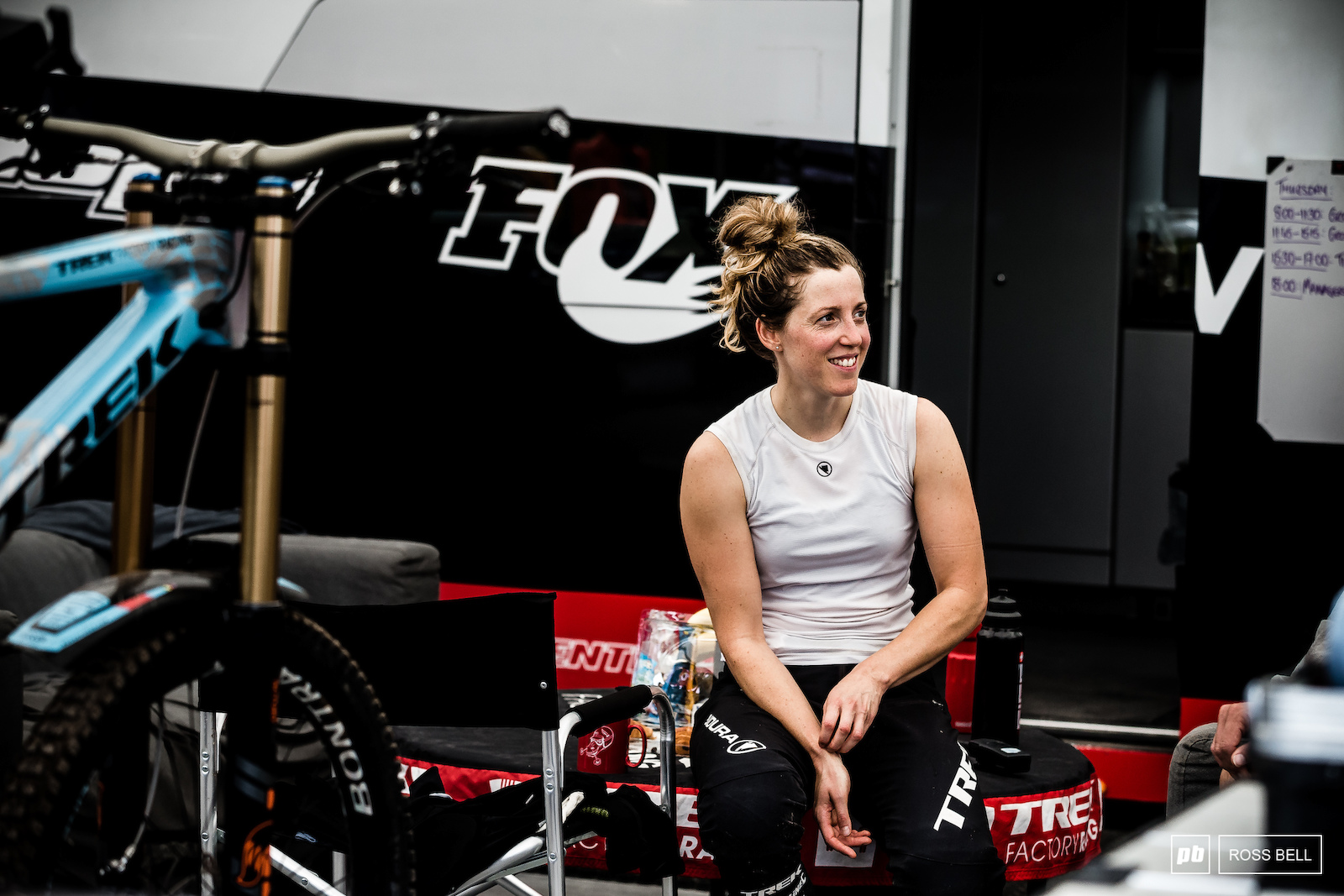 Rachel Atherton seemed happy and relaxed as she starts the final weekend in the quest for the 2018 World Cup overall.