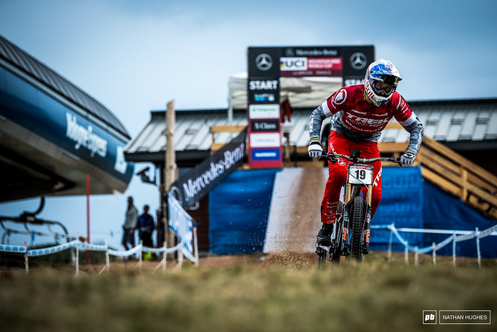 If you missed the fact that Gee Atherton is back after his MSA result today s TT was another reminder.