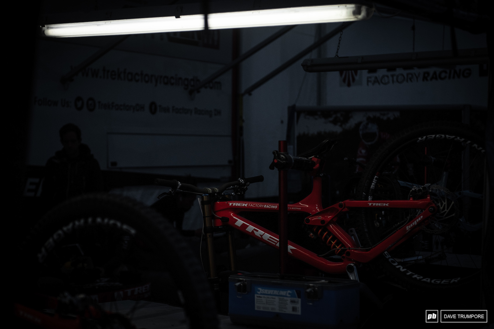 Final details double checked as bikes are prepped in the pre-dawn hours.