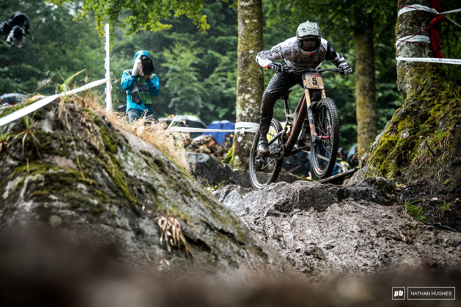 Luca Shaw holding it down in the savagely messy qualie conditions.