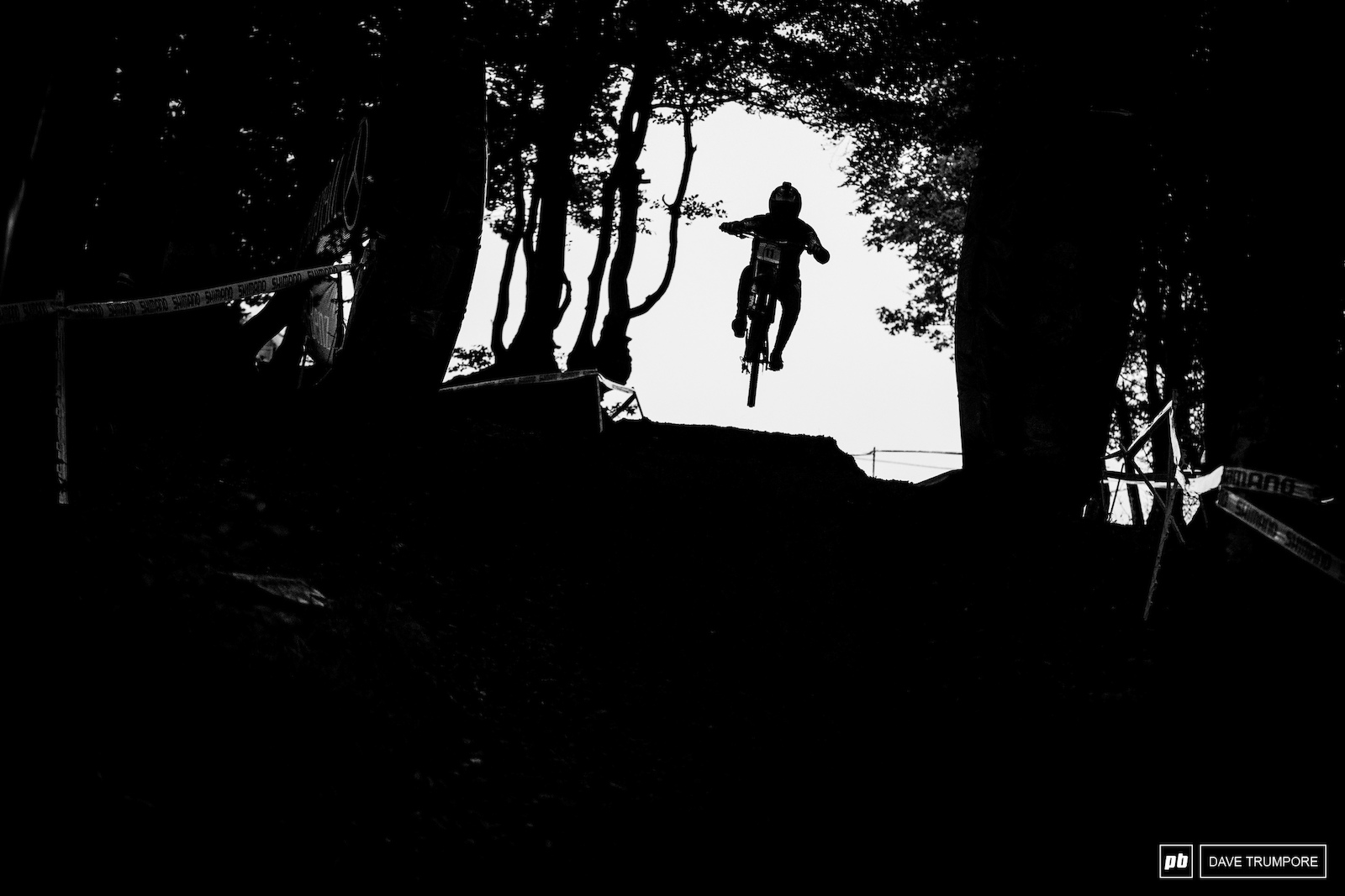 It was pretty much pitch black in the woods to start off the final day of the World Cup season.