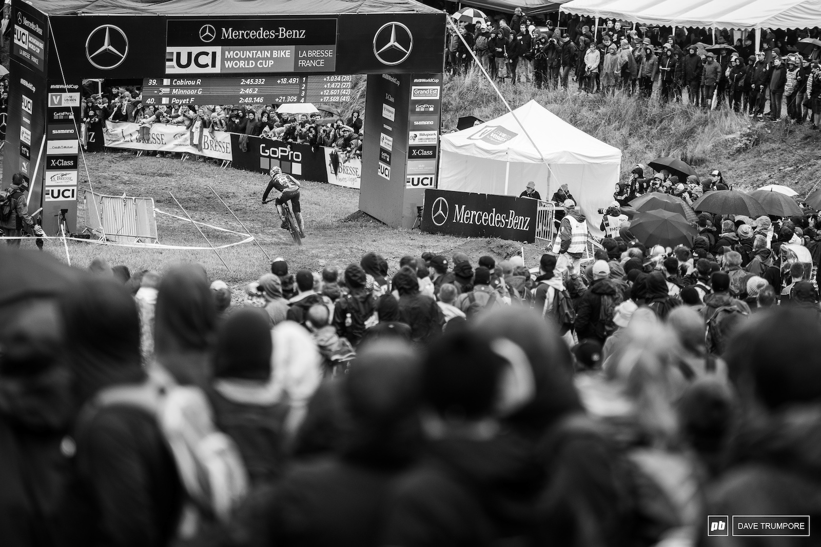 The legend that is Greg Minnaar crosses the line to end a tough day at the office.