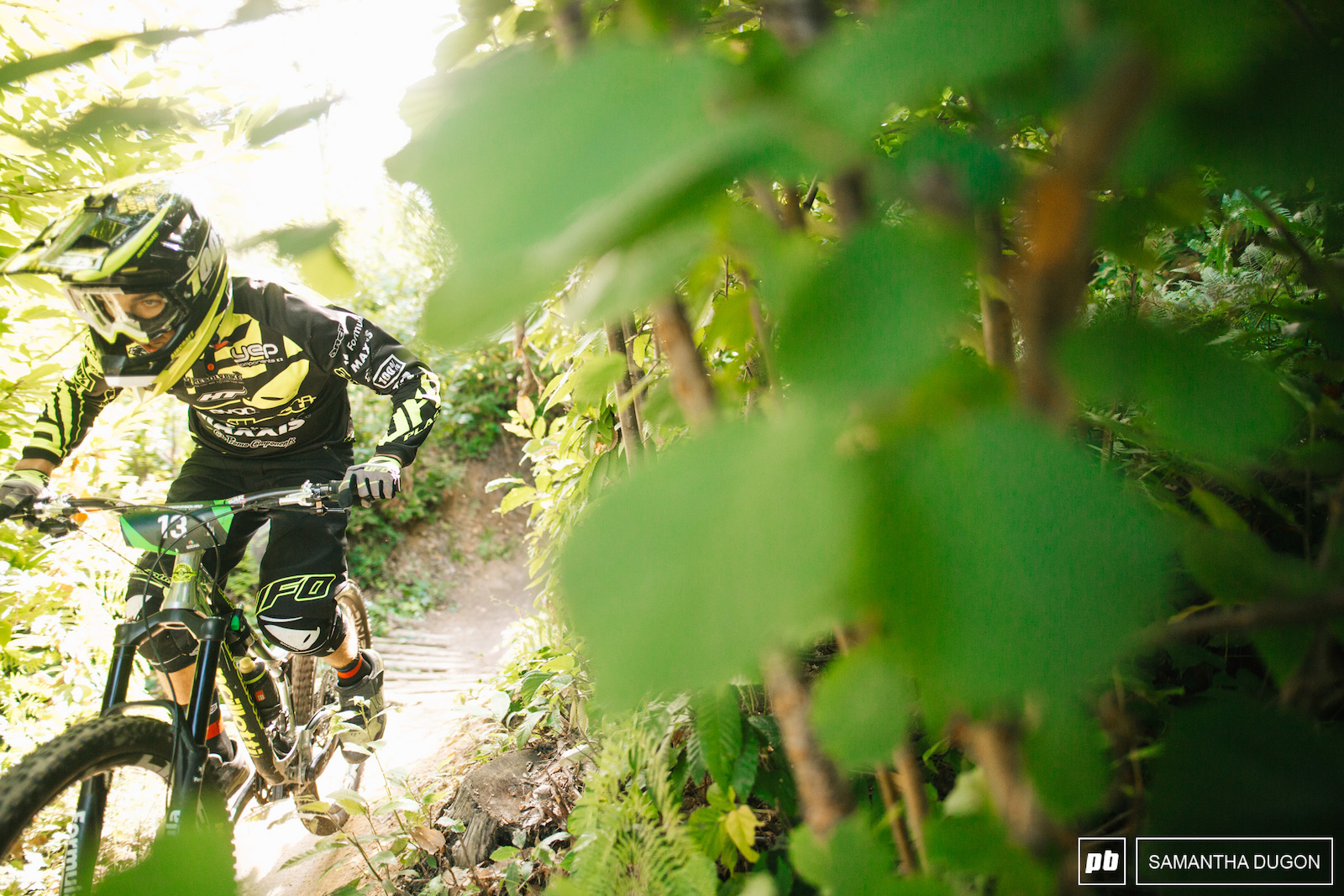 Ancillotti rider Simone Pelissero keeping focused on his way down stage 2.