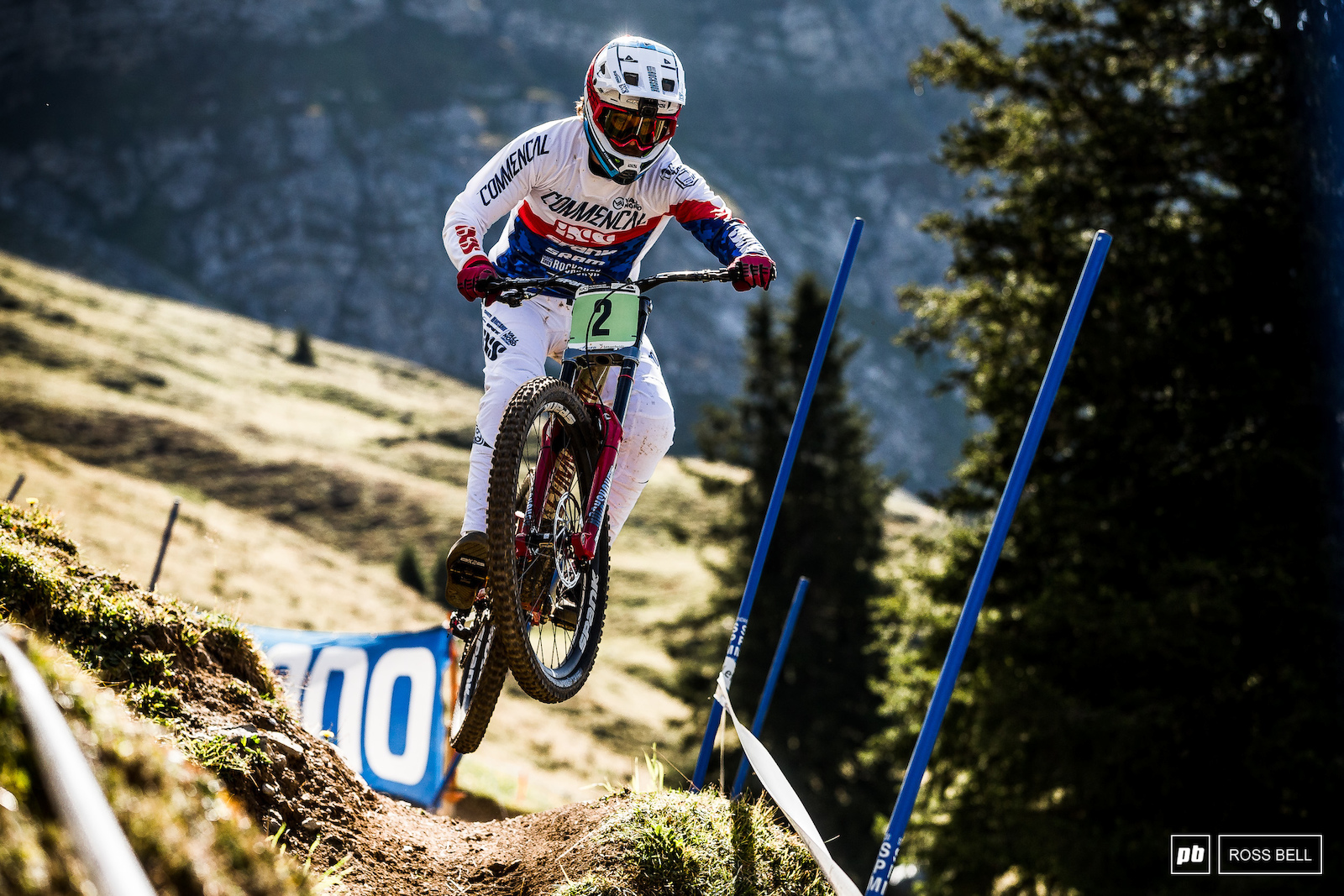 Whilst most riders were rolling through this section Thibaut Daprela decided to launch it. He s had an amazing first year in junior so anything less than gold will leave him with a bad taste in his mouth.