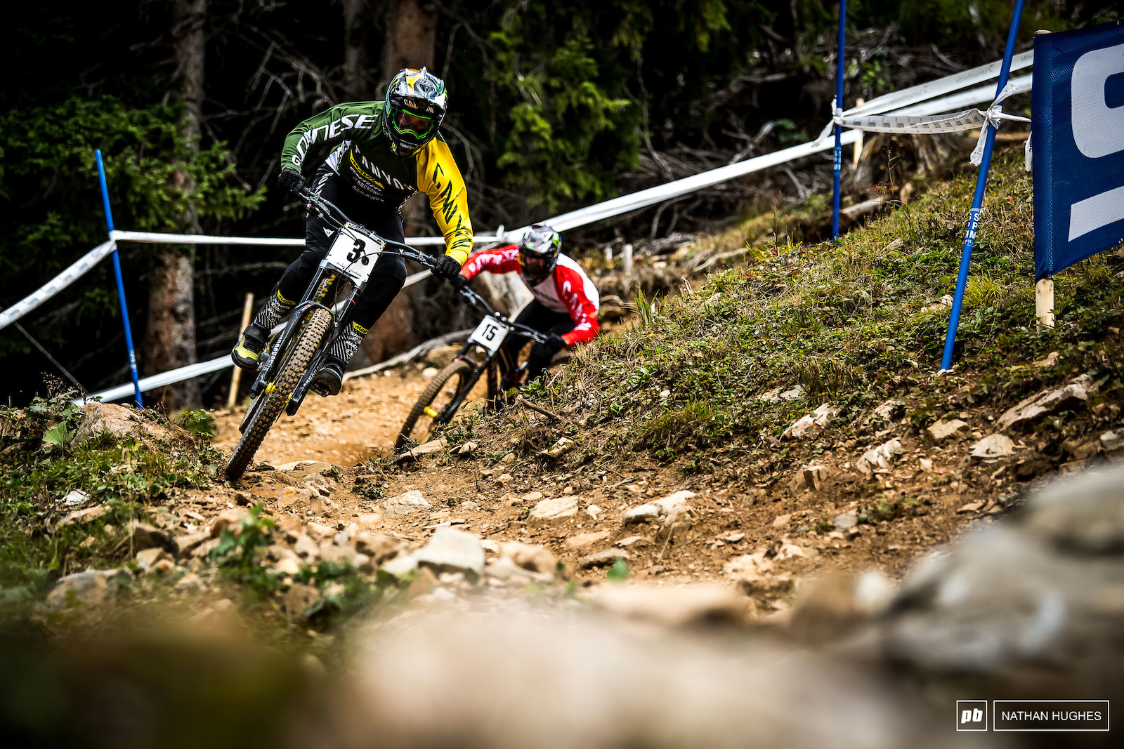 Team mates Brosnan and Wallace were firing out hot laps on the Swiss dirt.