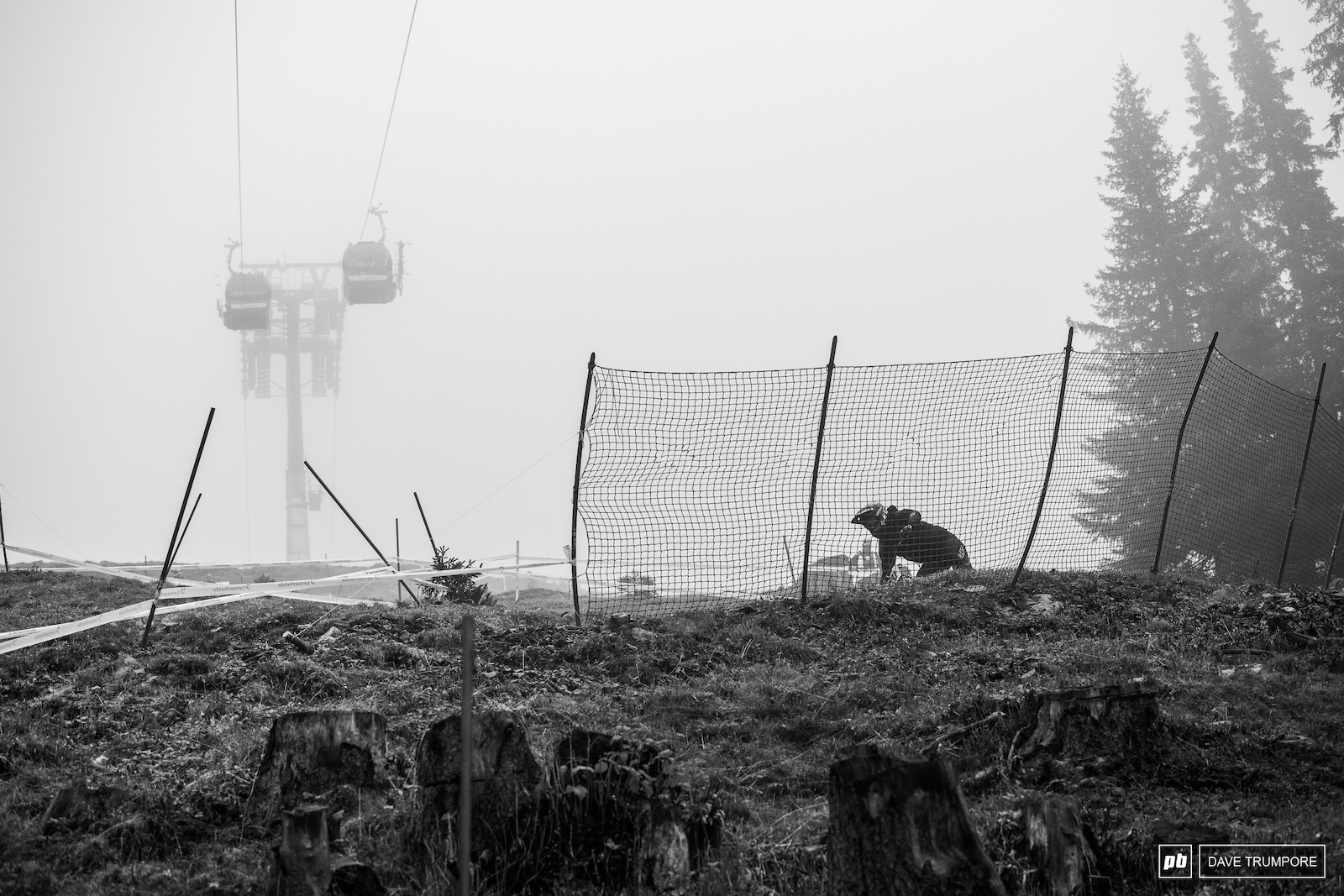 cold wet and foggy to start the day in Lenzerheide.