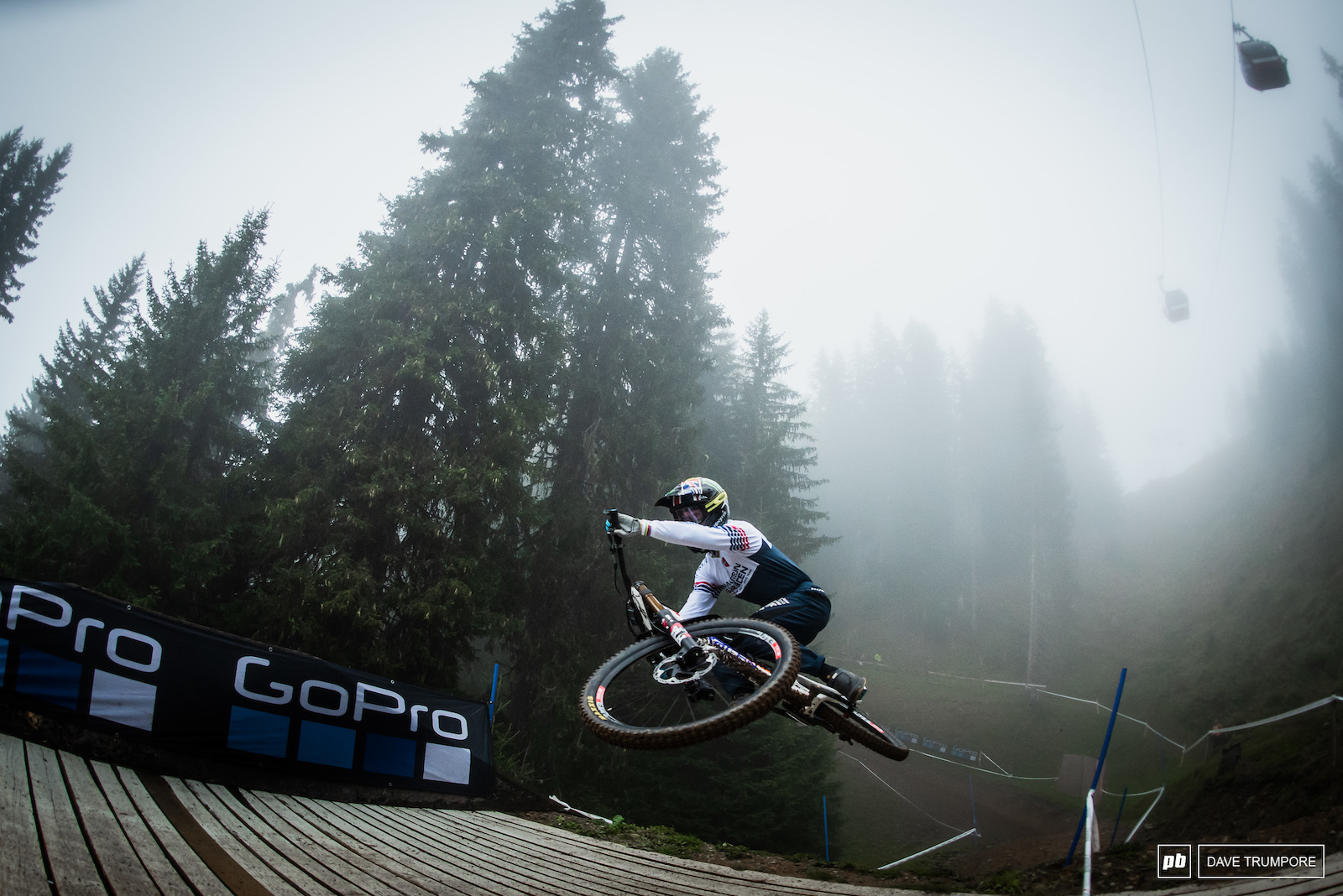 Dany Hart flattening things out in the fog.