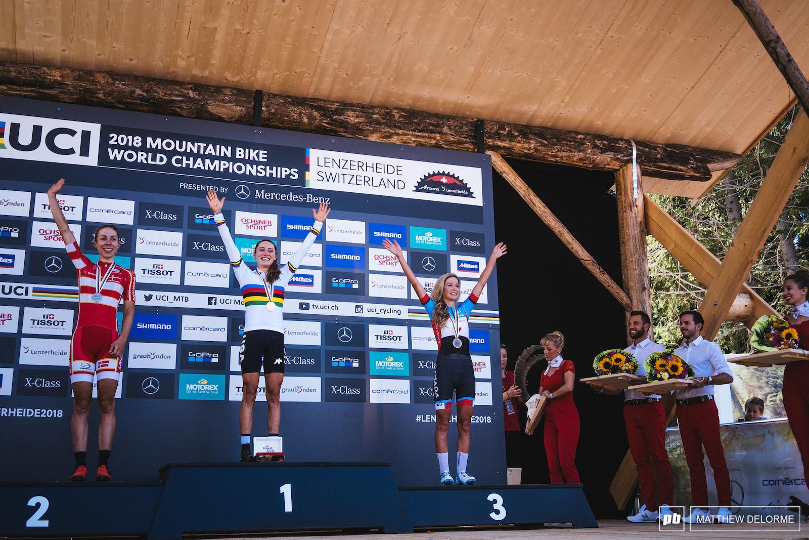 Your women elite podium- Courtney Langvad Batty.