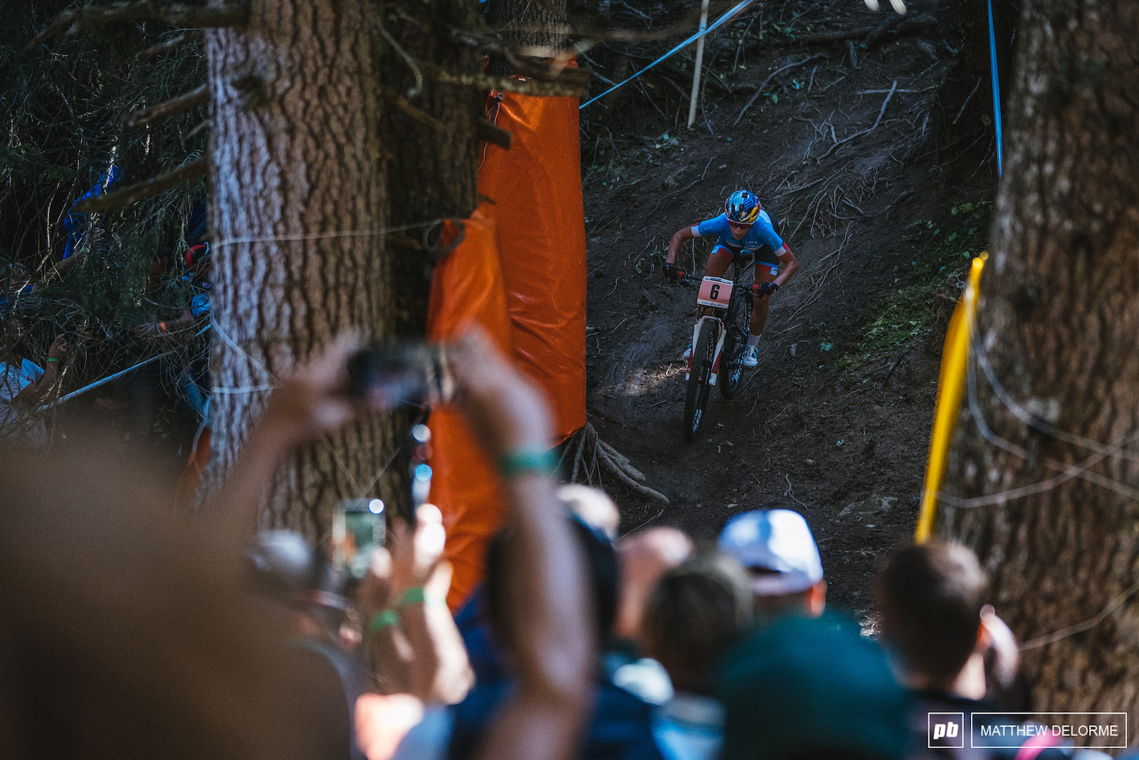 Emily Batty left nothing out on course. The Canadian had a stellar ride to third today.