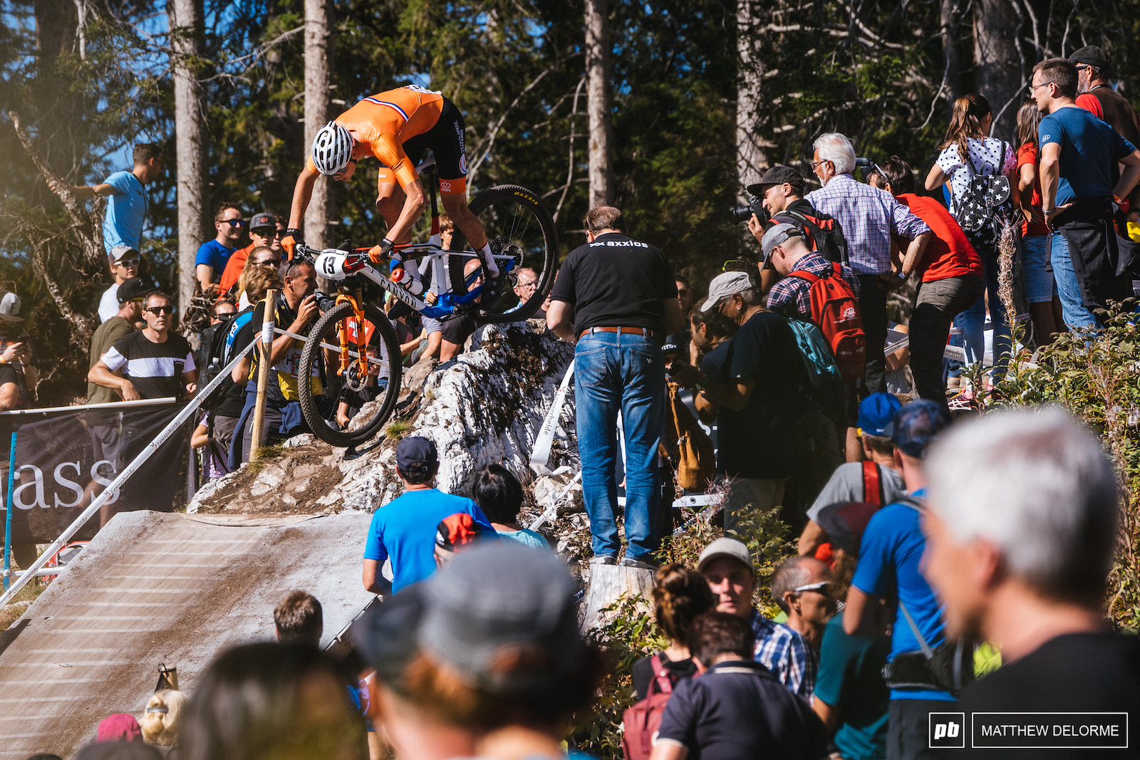 Mathieu van der Poel had a solid ride from the second row. He took third today.