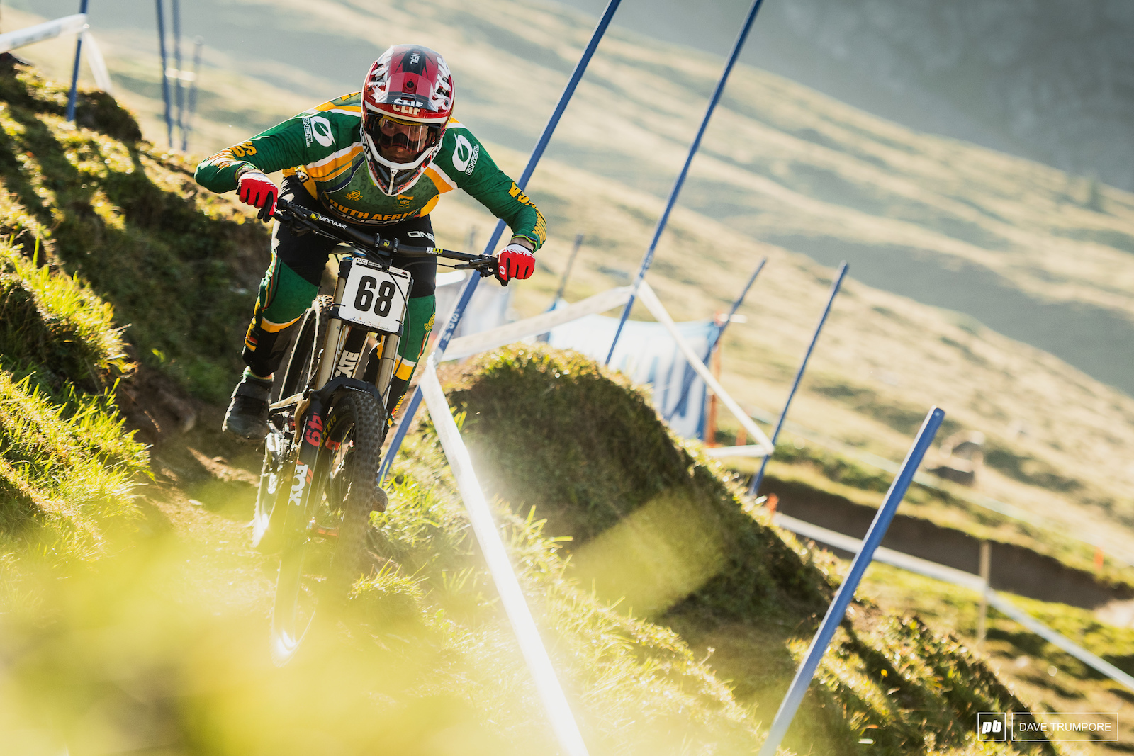 Greg Minnaar had a strong race today to finish just over 2 seconds out of the medals.