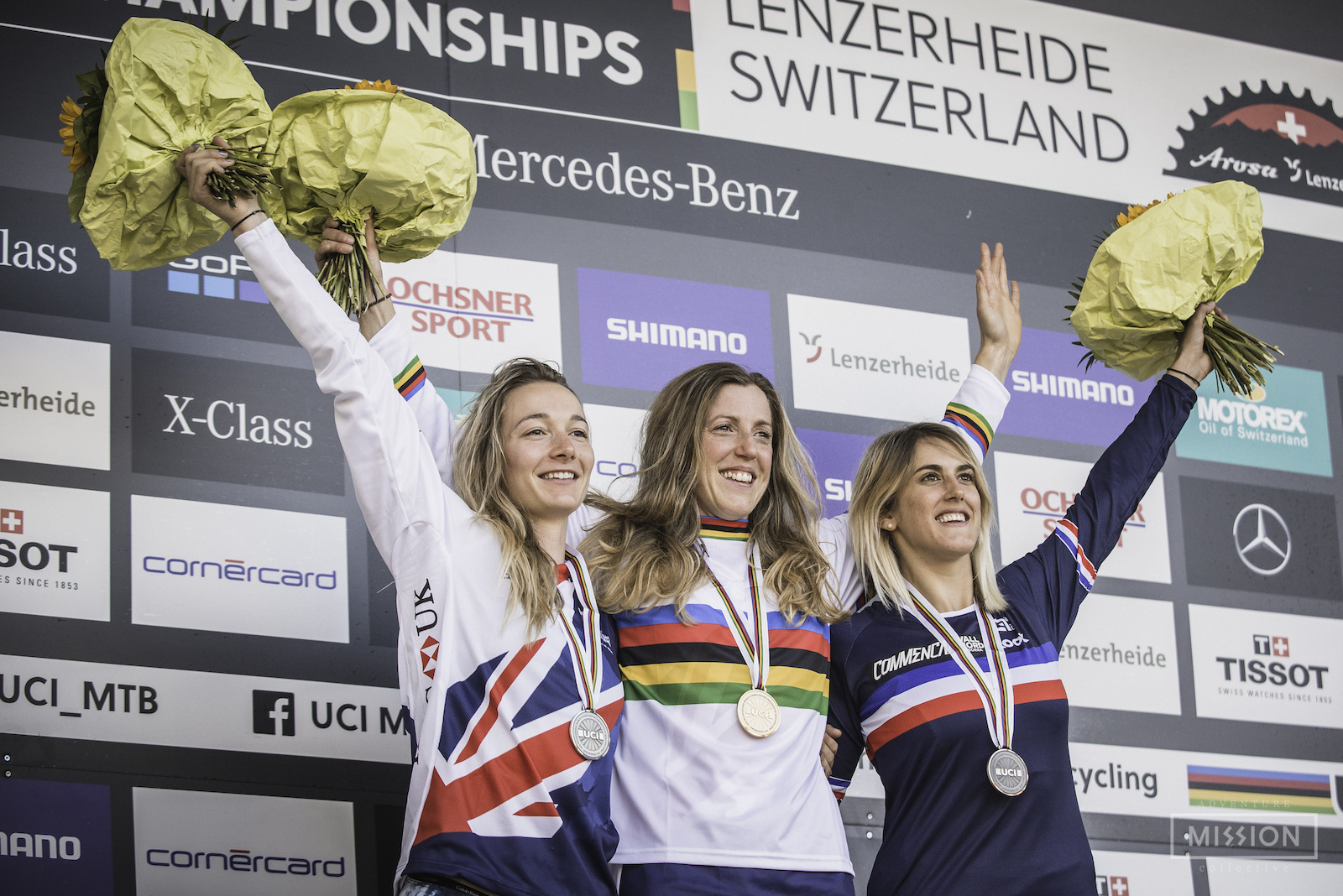 UCI Downhill World Champs 2018 - Awards Ceremony