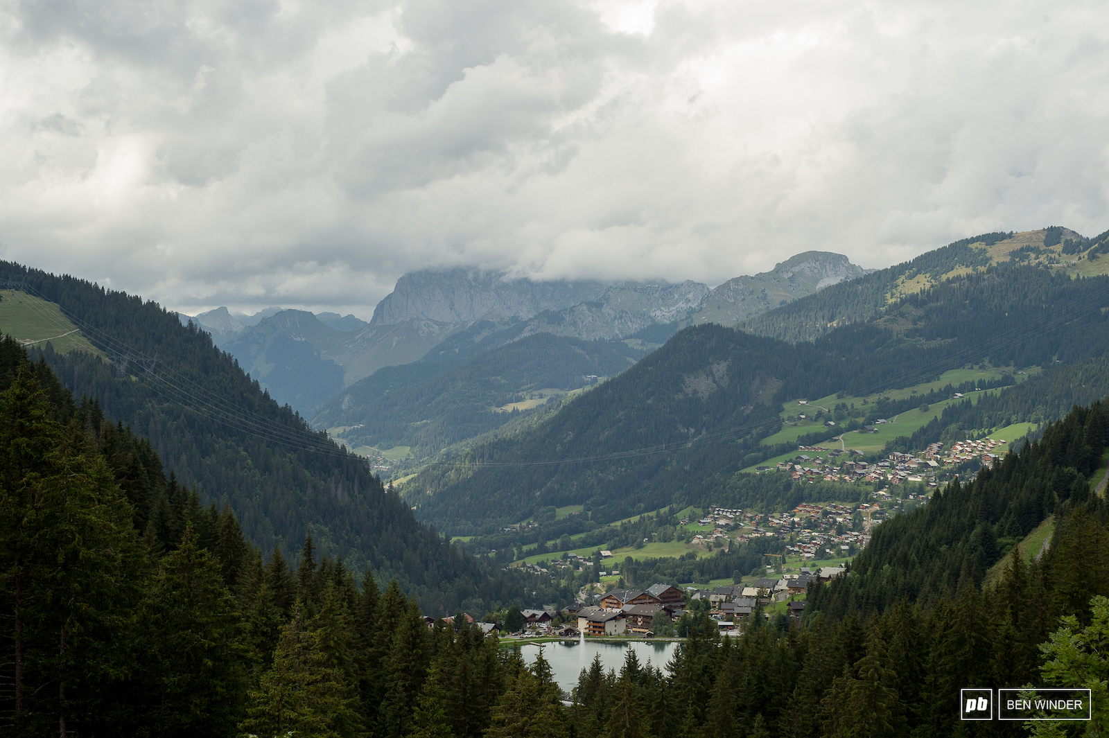 Chatel is nestled in the French Alps.