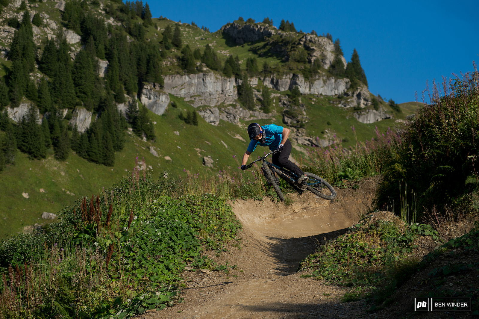 James proving you don t need a Downhill bike to have fun in Chatel.