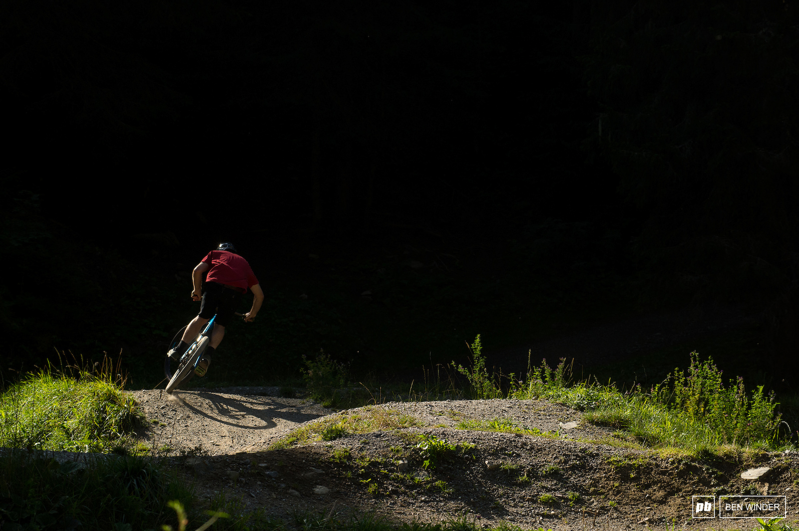 The pumptrack is perfect for evening laps once the bikepark has closed