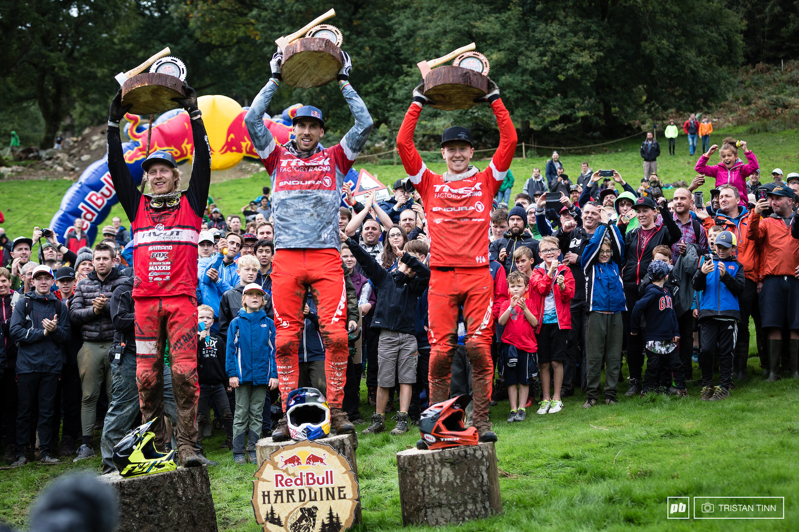 Gee Atherton 1st Bernard Kerr 2nd and Charlie Hatton in 3rd
