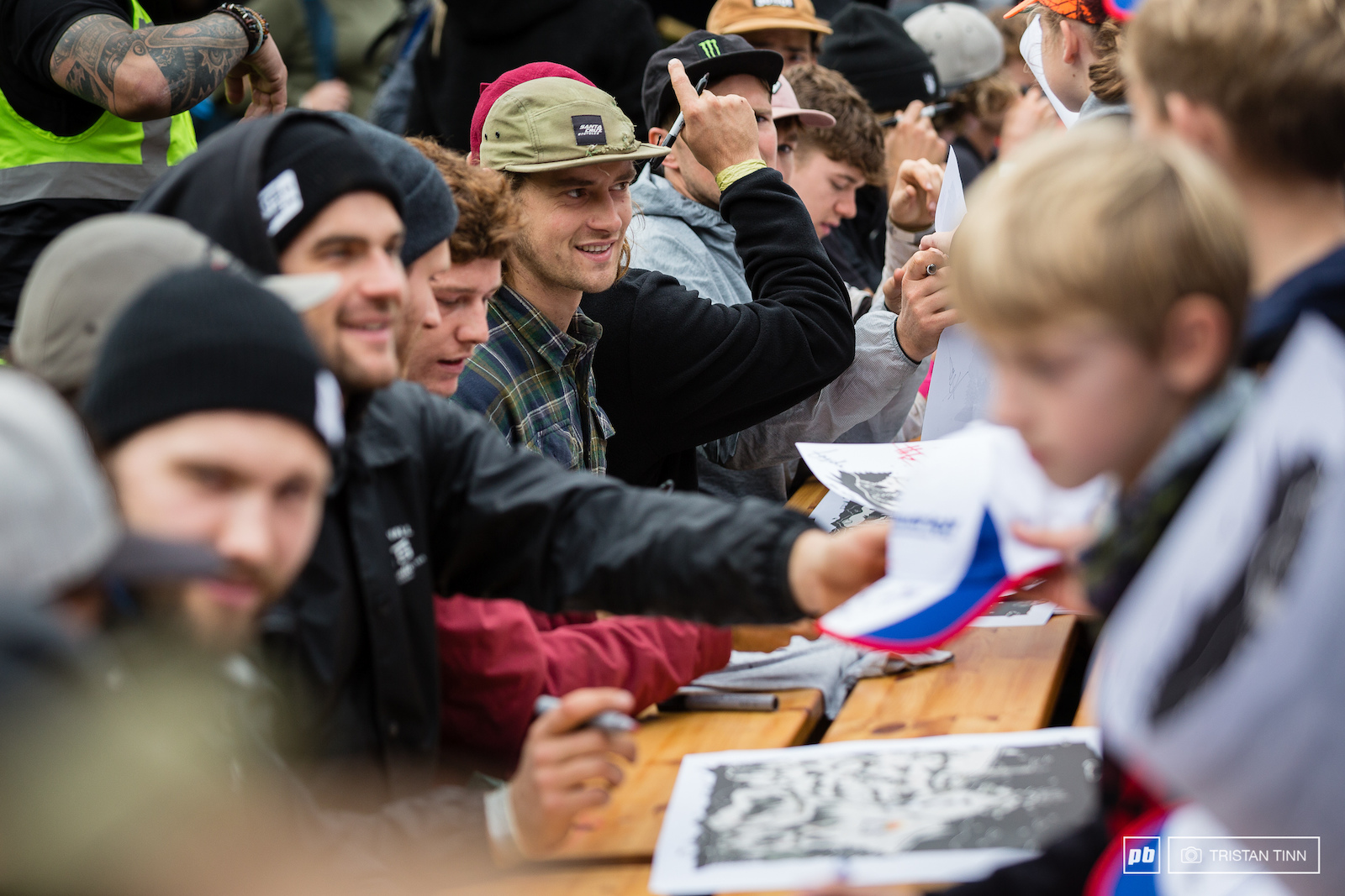 All the athletes made sure to put plenty of time into meeting their fans