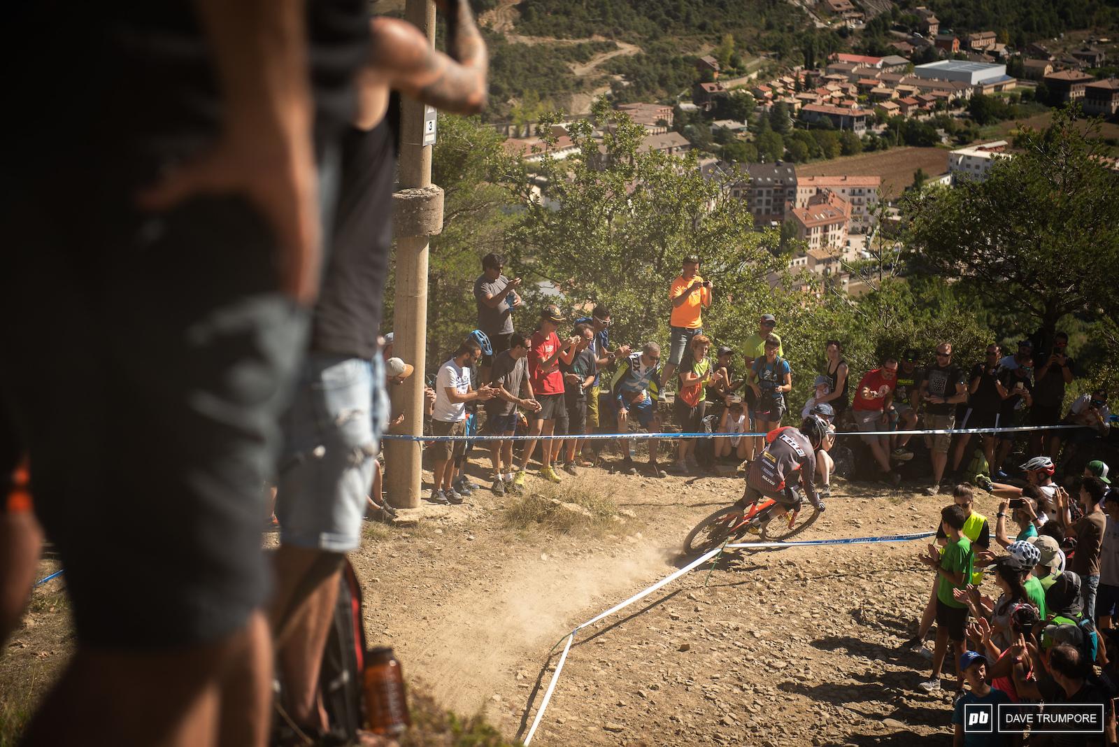 Florian Nicolai rails it down Stage 5.