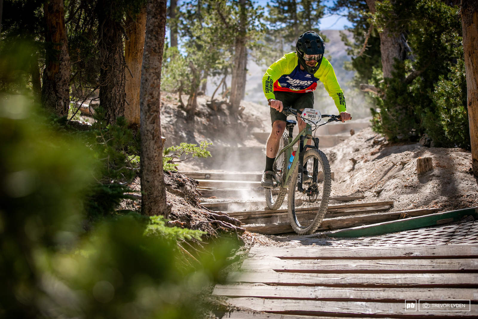 Cole Kersey was on a hardtail all day that can t be easy on the bike or the body