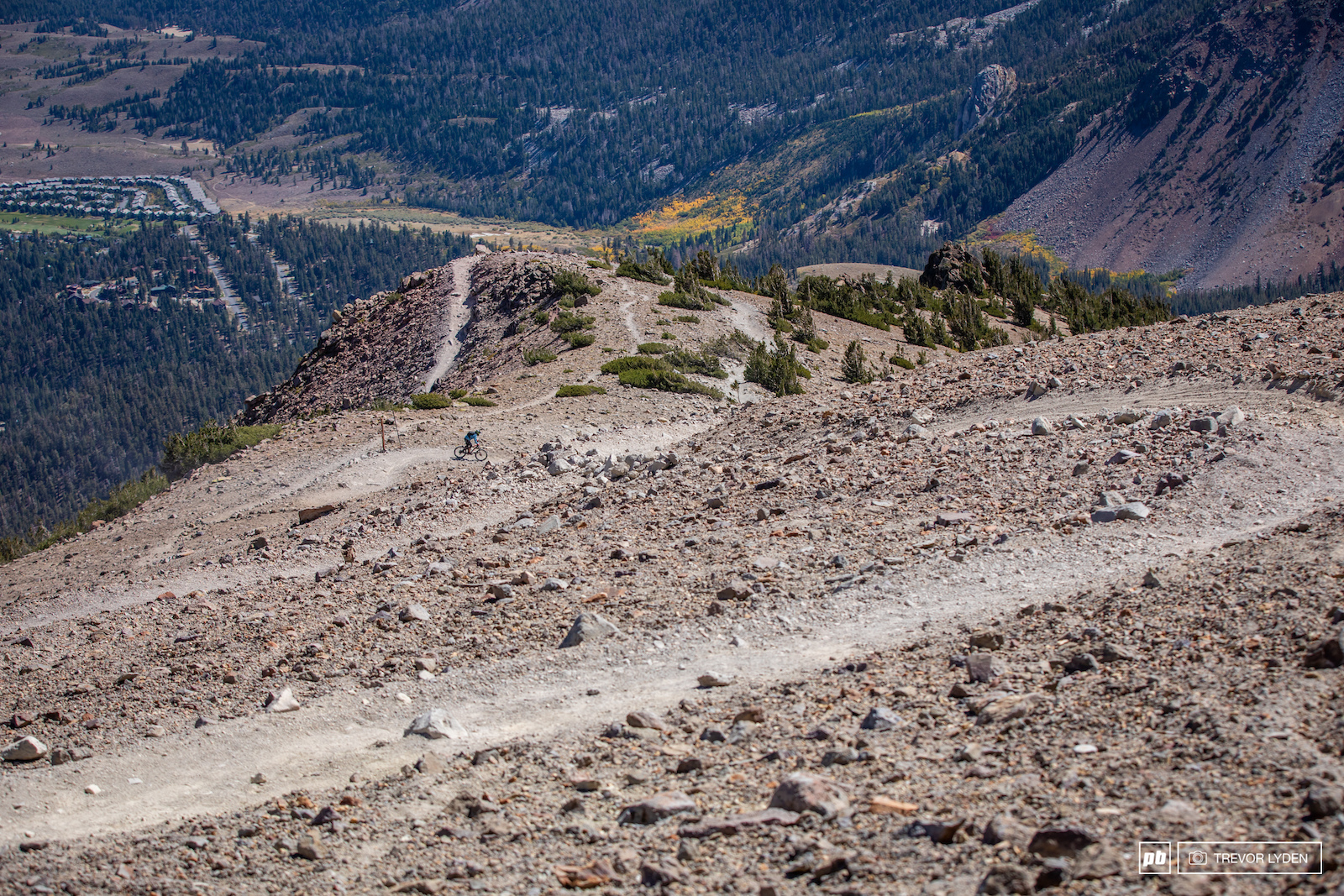 There was no shortage of switchbacks on stage 2