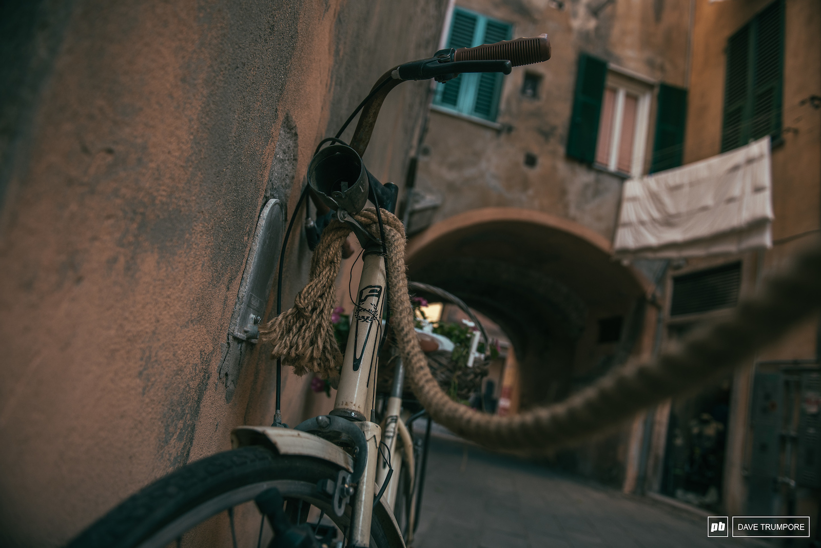 Even the bike locks are as laid back as the locals in Finale.