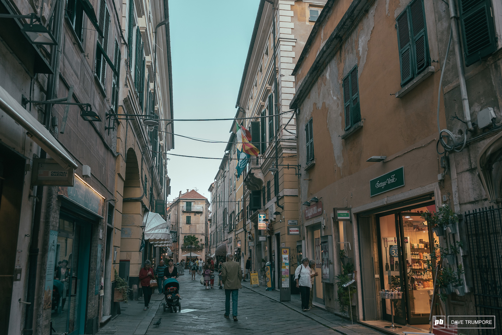 The coastal village of Finale Ligure is one of the more unique stops on the EWS as racers mix in with the hustle and bustle of everyday life.