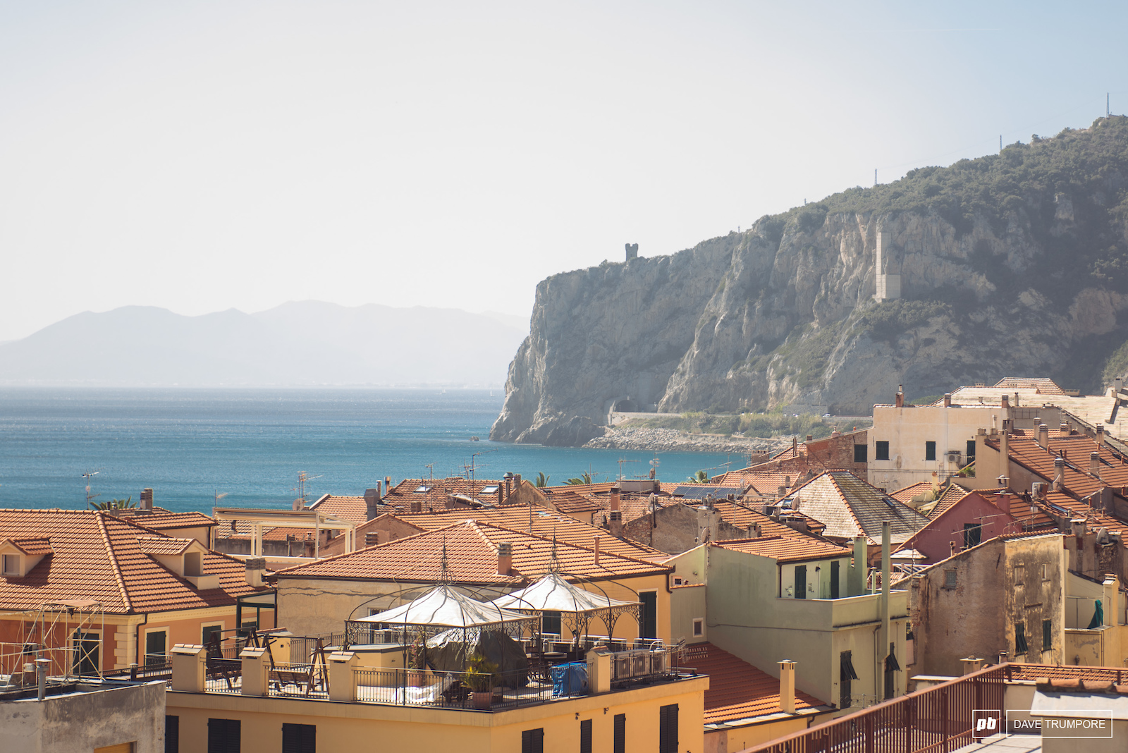 Hot and hazy in Finale Ligure