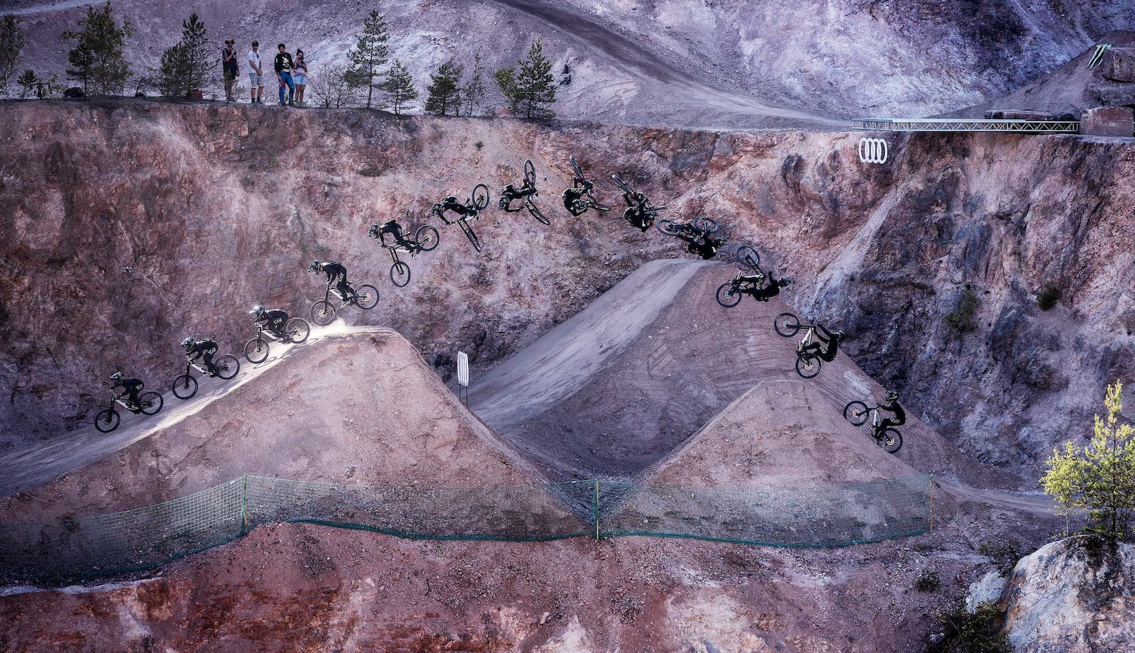 Ethan Nell was definitely one of the most stylish guys riding the quarry. Here he is with a classic Ethan Nell Flatspin look-back mid freeride line.