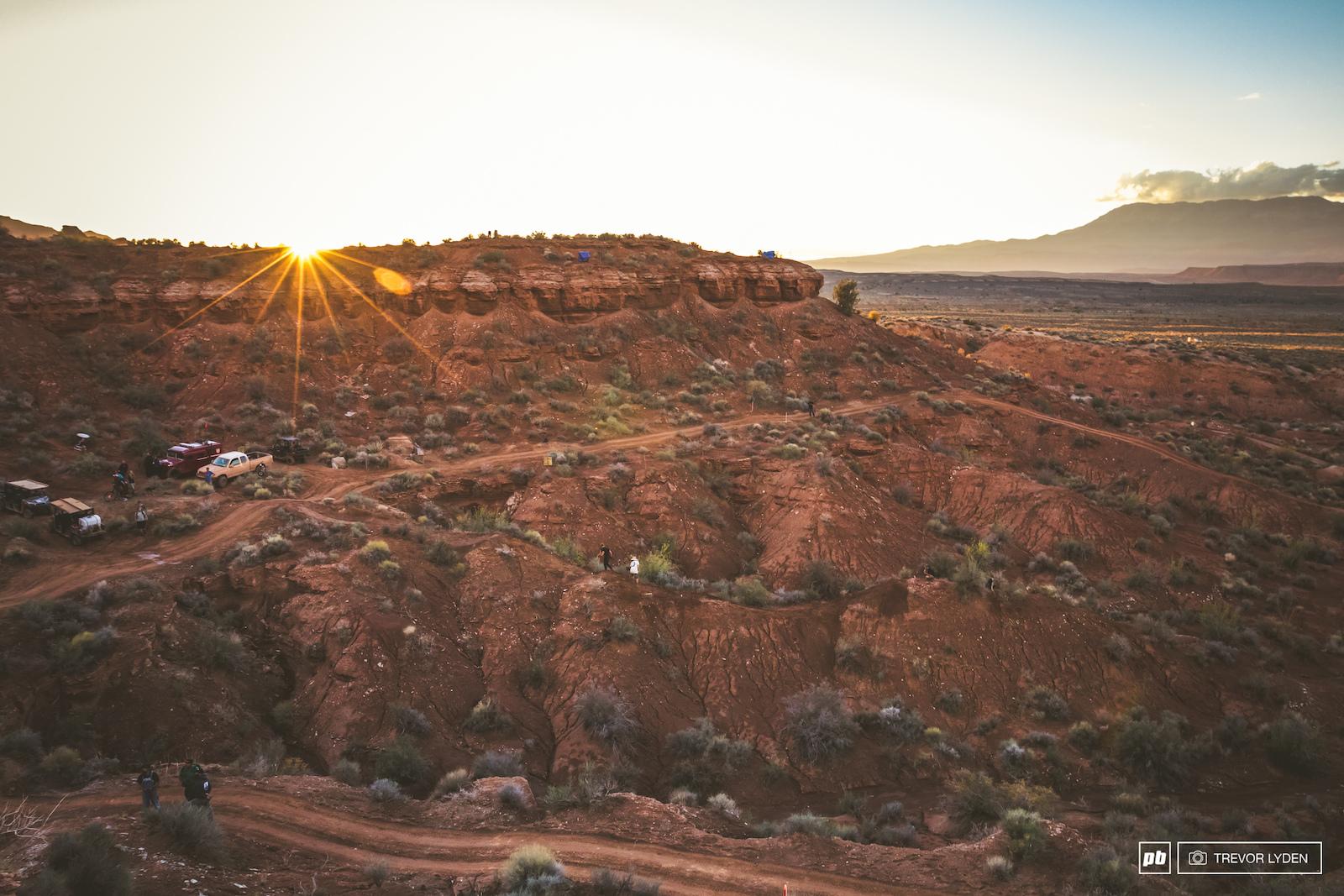 Sunset on the Utah desert.