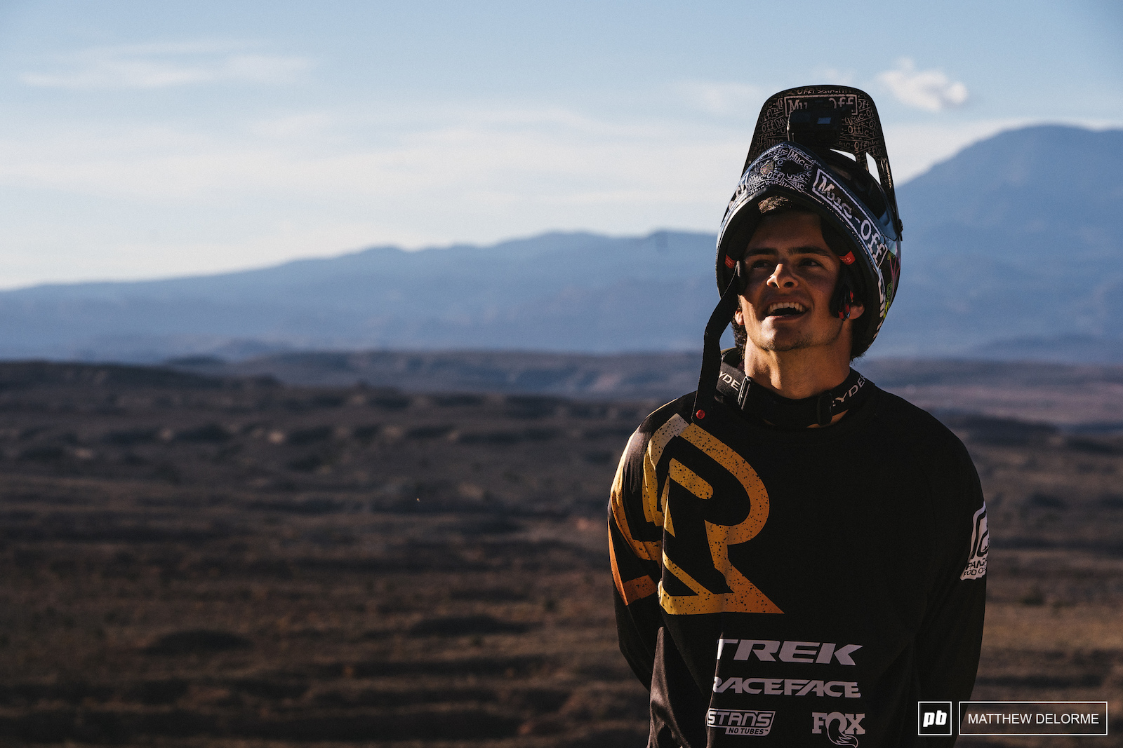 Reed Boggs is stoked to get riding after a long week of digging.