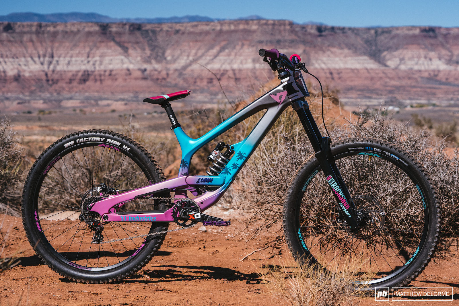 At 35 years old jordie lunn is one of the oldest competitors at rampage but age is not holding back his hucking lunn is riding a production yt tues cf
