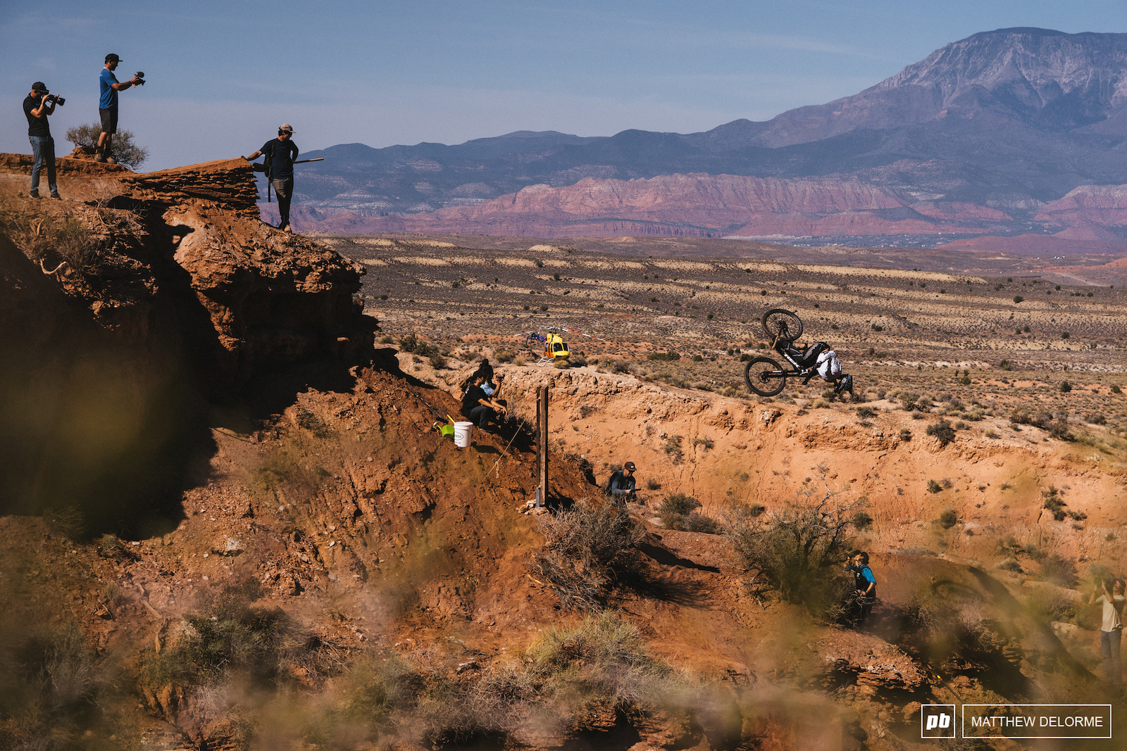 Tom van Steenbergen nails down the final features of his run.