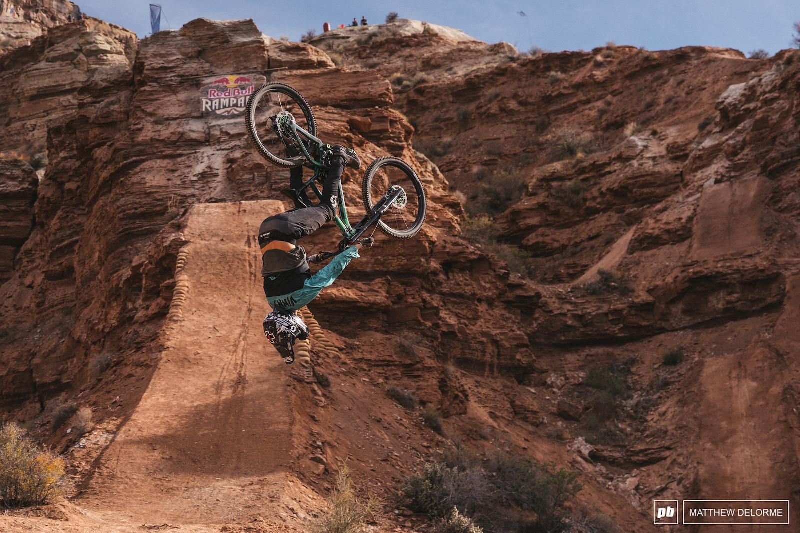 Vinny T flips cross course.