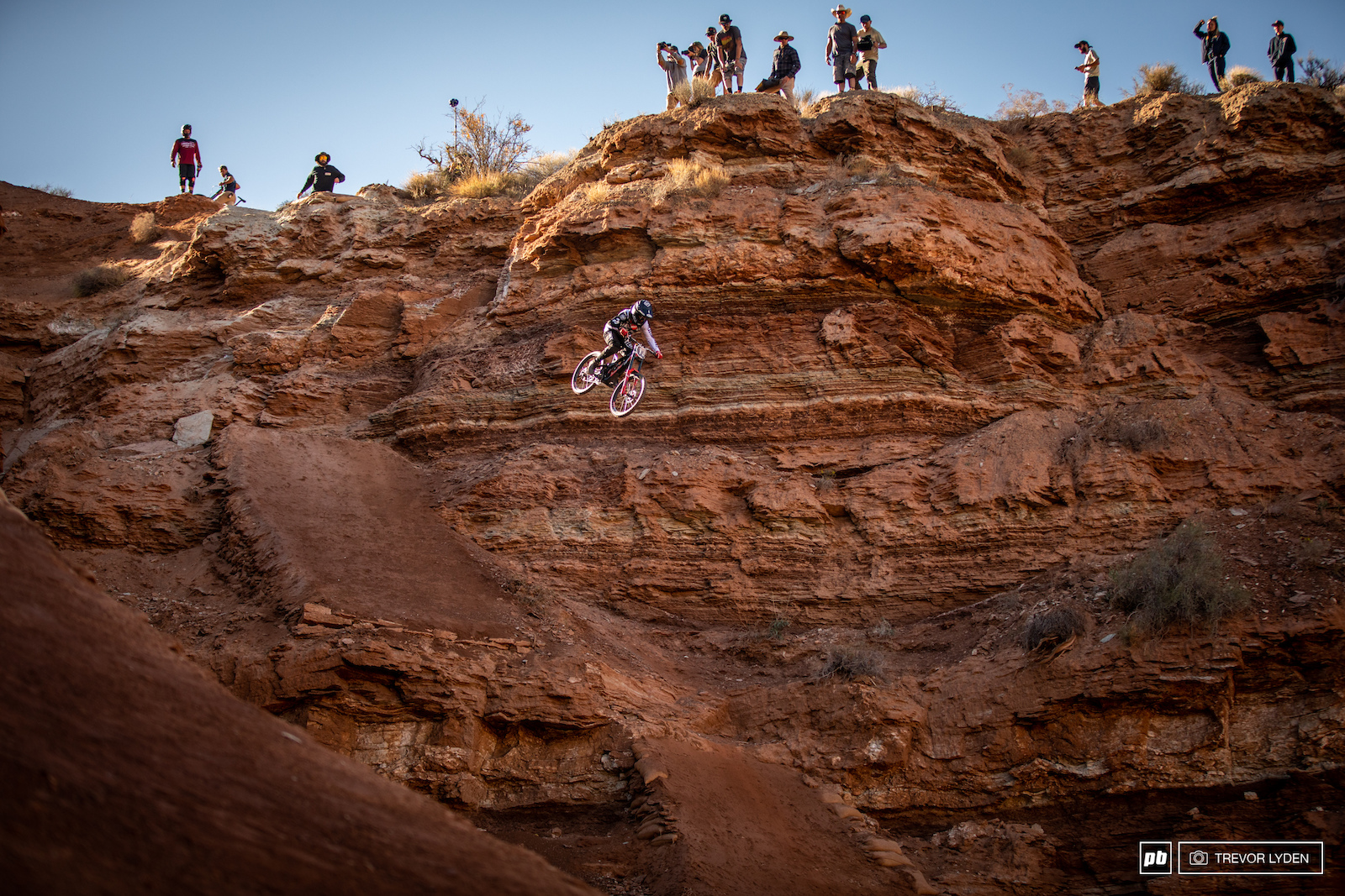 T-Mac tests out his massive lower cliff drop.