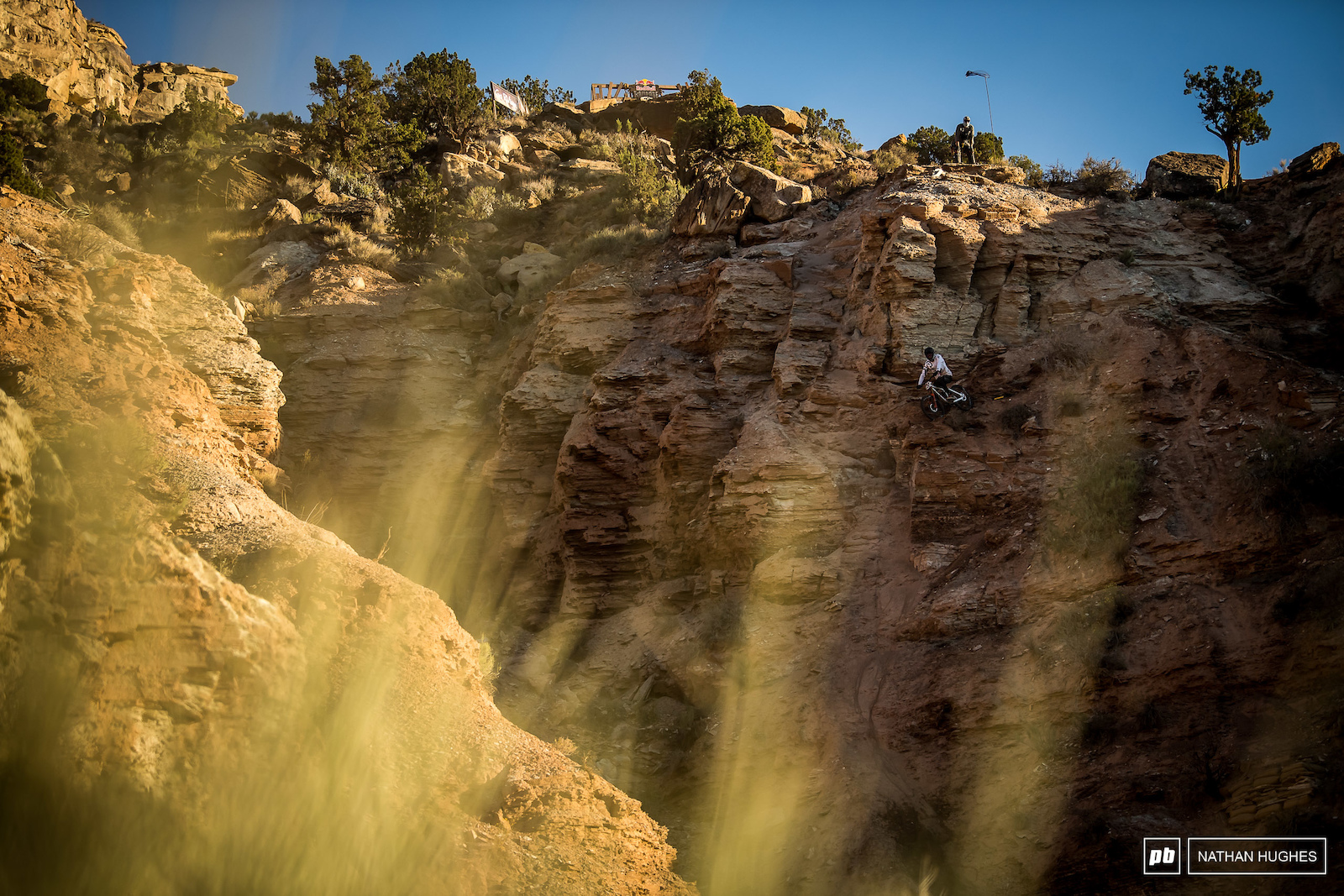 DJ Brandt s is hella rough and scary. See here his hanging rock garden the vertical chute to the left of him .