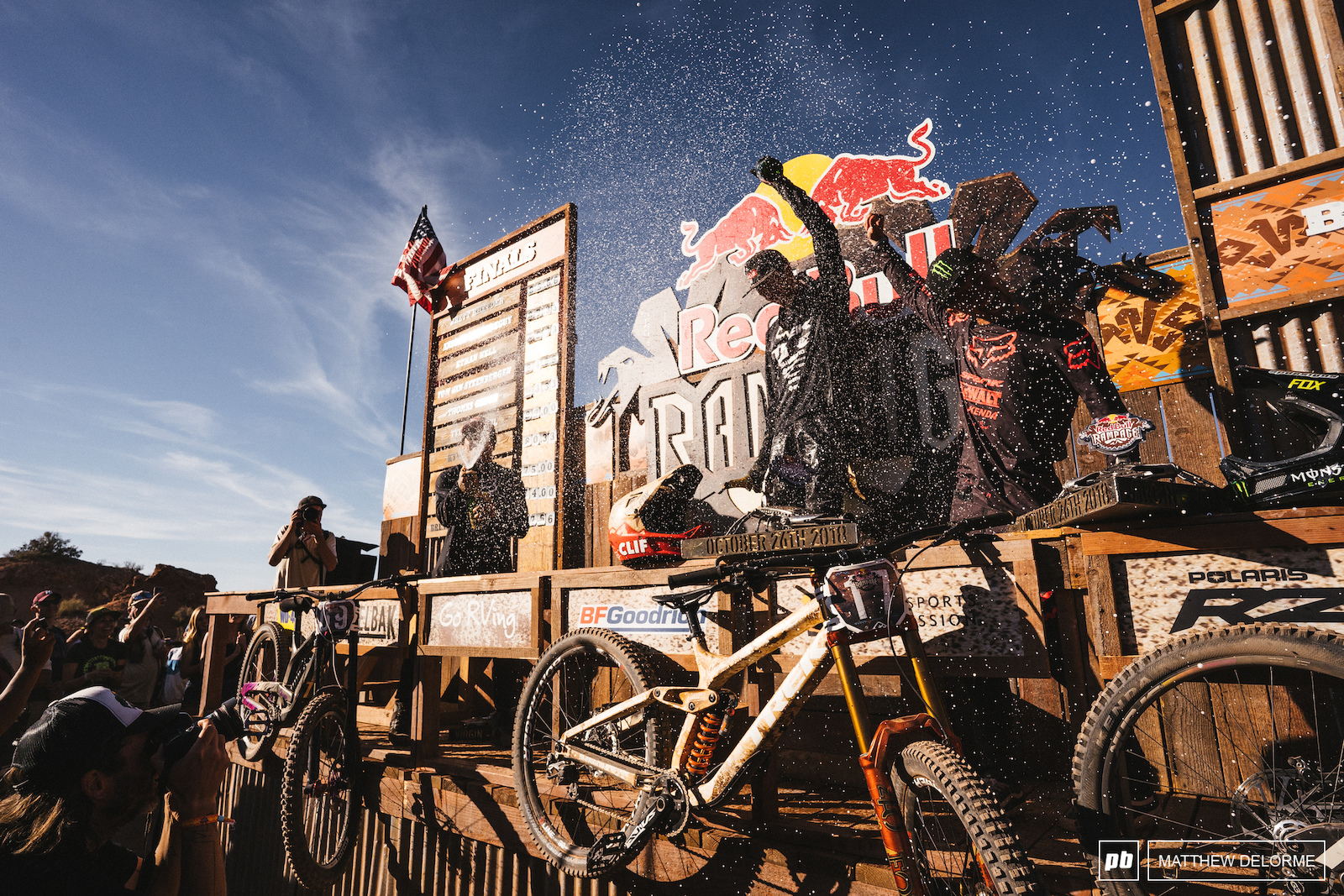 Brett Andreau and Ethan take the top three spots at Rampage.