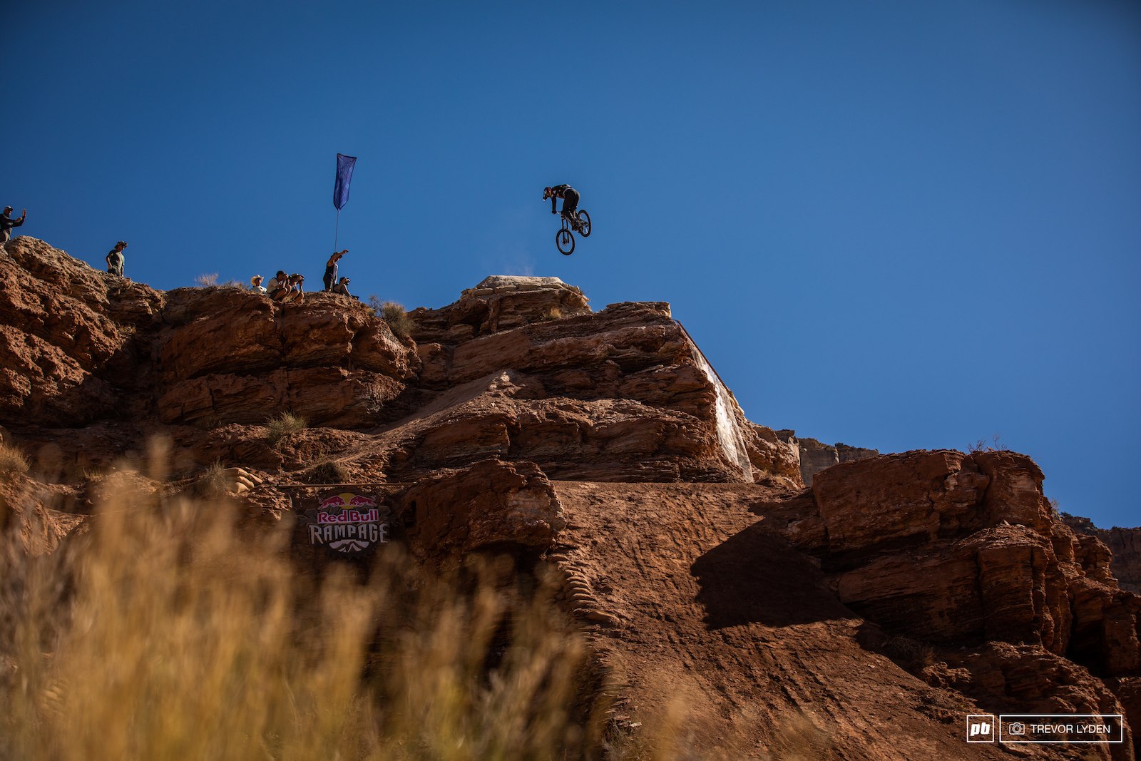 Carson went down hard after this 360 but he would have rode it out if the landing were a couple feet wider.