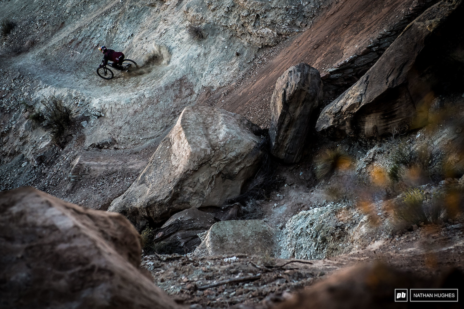 B-Sem slaying his rock tapper and roosting into the next section.